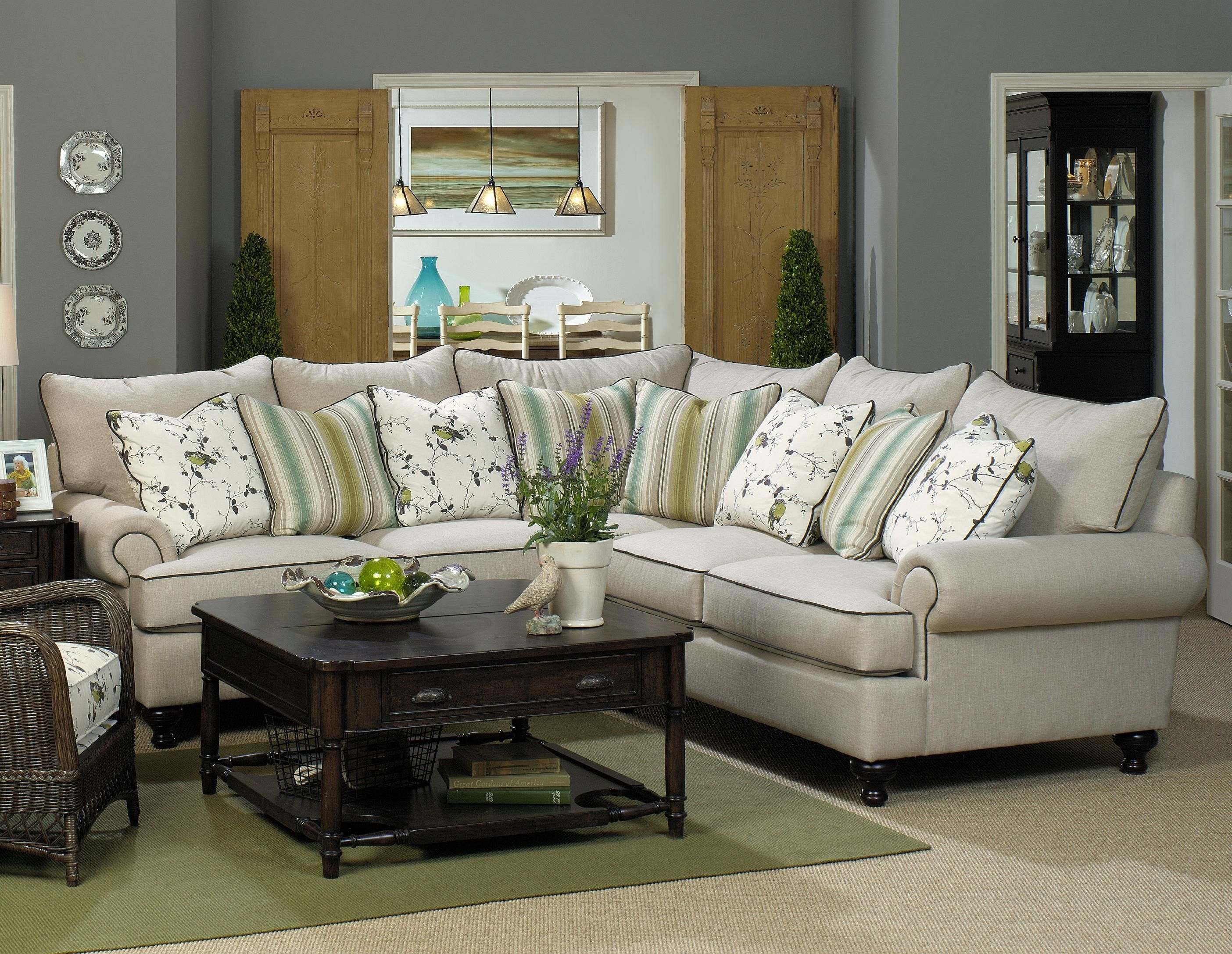 Paula Deen Home 2 Piece Sectional Sofapaula Deenuniversal Within Blaine 3 Piece Sectionals (Photo 26 of 30)