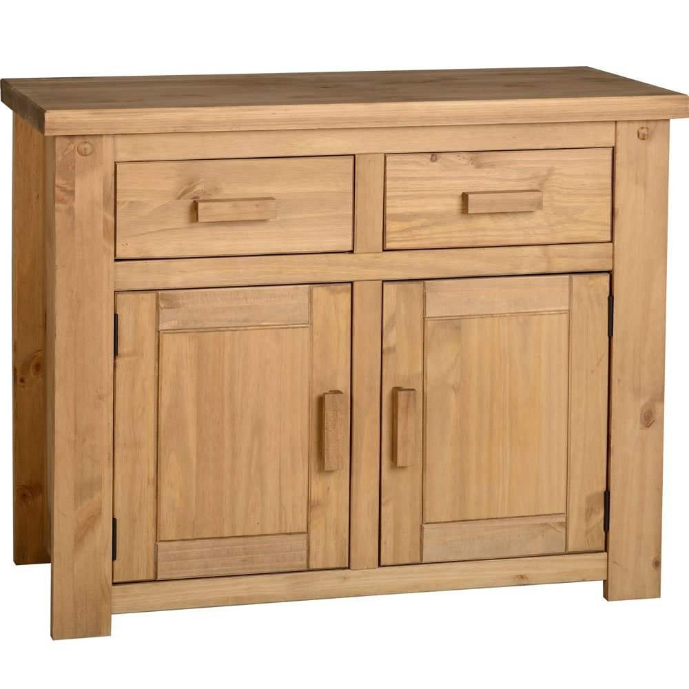 Featured Photo of Aged Pine 3 Drawer 2 Door Sideboards