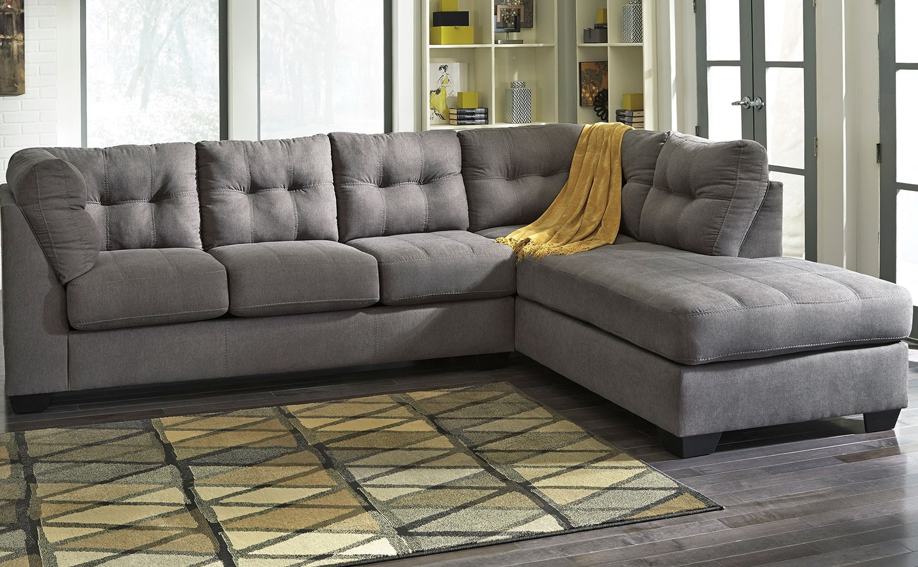 Perfect Grey Sectional Sofa With Chaise 31 For Your Modern Sofa with regard to Delano 2 Piece Sectionals With Laf Oversized Chaise (Image 26 of 30)