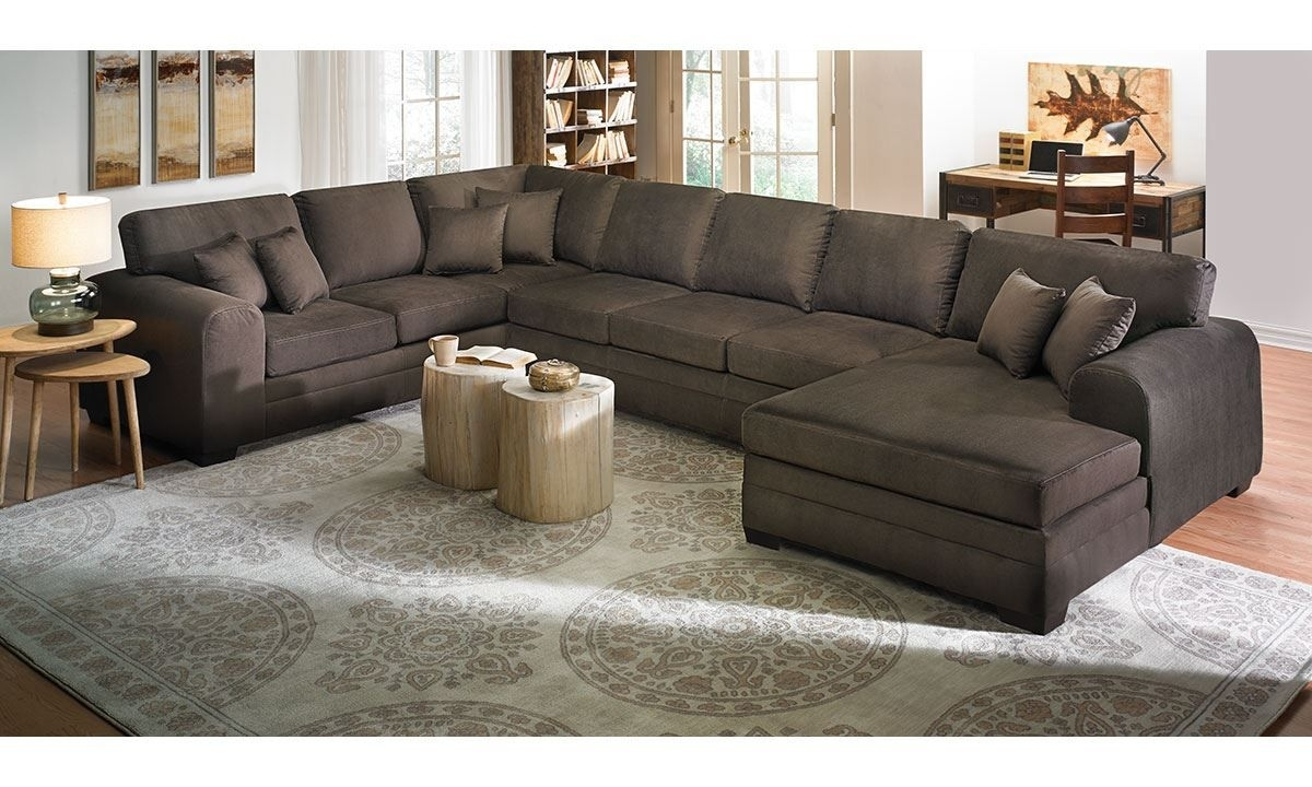 Picture Of Sophia Oversized Chaise Sectional Sofa | Skyview Rd intended for Turdur 3 Piece Sectionals With Raf Loveseat (Image 17 of 30)