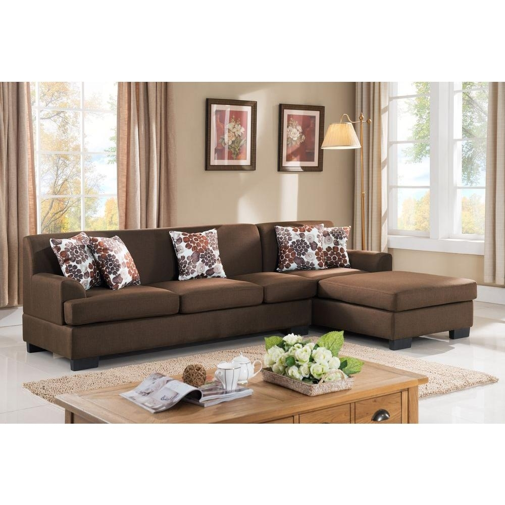 Piece Brown Linen Sectional The Sectionals Couch That Comes Pieces inside Aspen 2 Piece Sectionals With Laf Chaise (Image 24 of 30)