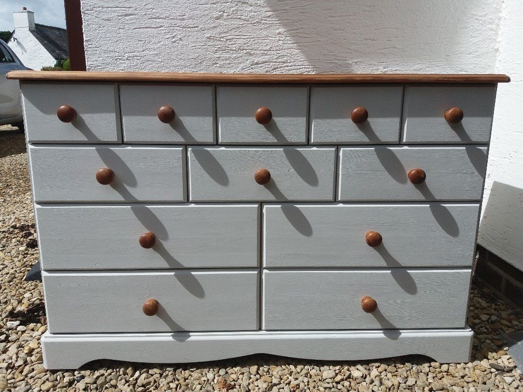 Pine Sideboard With Many Draws | In Cardiff | Gumtree for Natural South Pine Sideboards (Image 15 of 30)