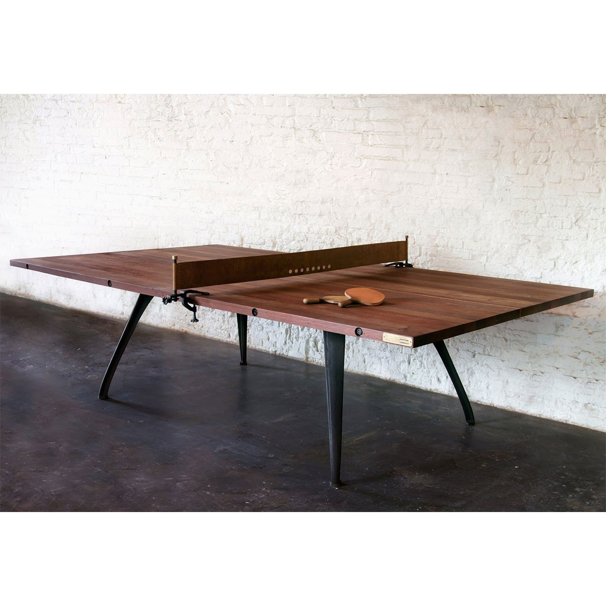 Ping Pong Table - Burnt Umber - Iron | Nuevo District 8 Hgda494 regarding Metal Framed Reclaimed Wood Sideboards (Image 17 of 30)