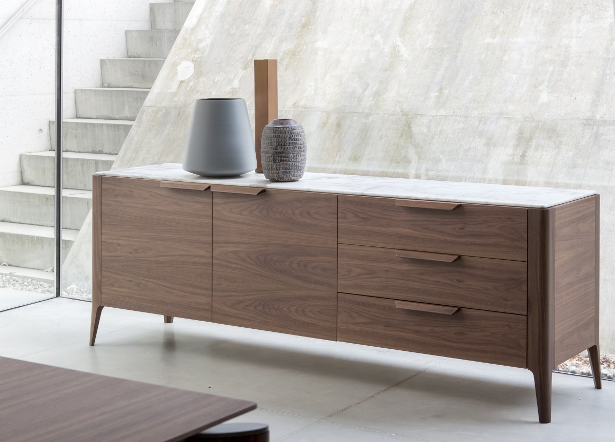 Porada Atlante Sideboard | Porada Furniture | Porada Sideboards in Walnut Small Sideboards (Image 18 of 30)