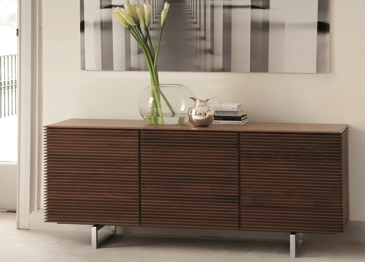Porada Riga Sideboard | Porada Furniture | Porada Sideboards Inside Walnut Finish 4 Door Sideboards (Photo 12 of 30)