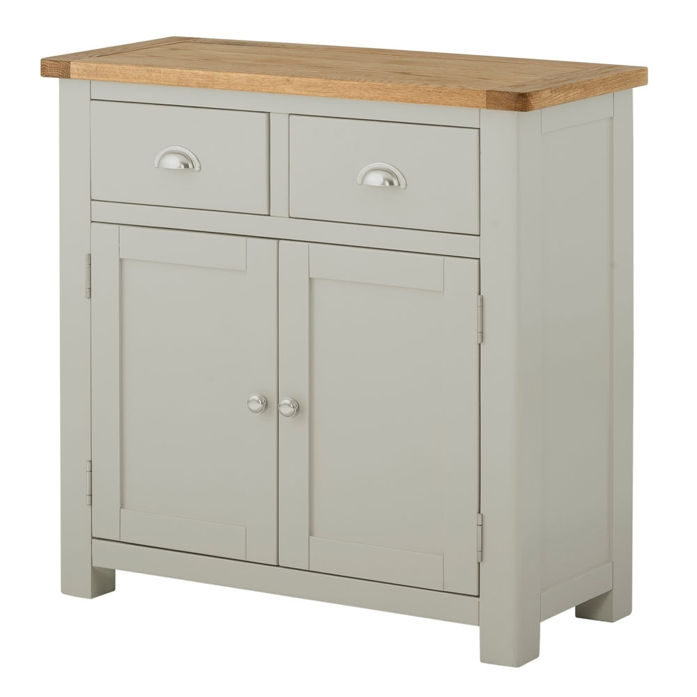 Portman Painted 5 Drawer Slim Jim In Stone Grey intended for Charcoal Finish 4-Door Jumbo Sideboards (Image 23 of 30)