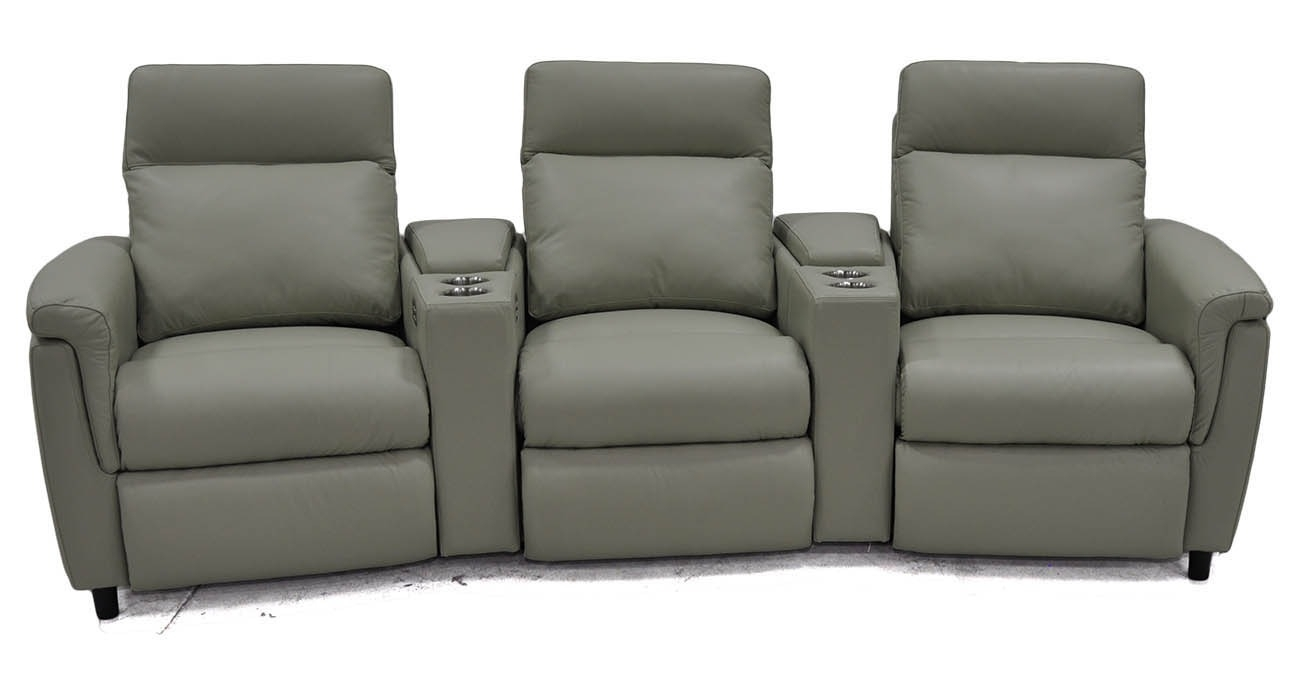 Power Home Theater • Texas Leather Interiors Furniture And Accessories intended for Travis Dk Grey Leather 6 Piece Power Reclining Sectionals With Power Headrest & Usb (Image 14 of 30)
