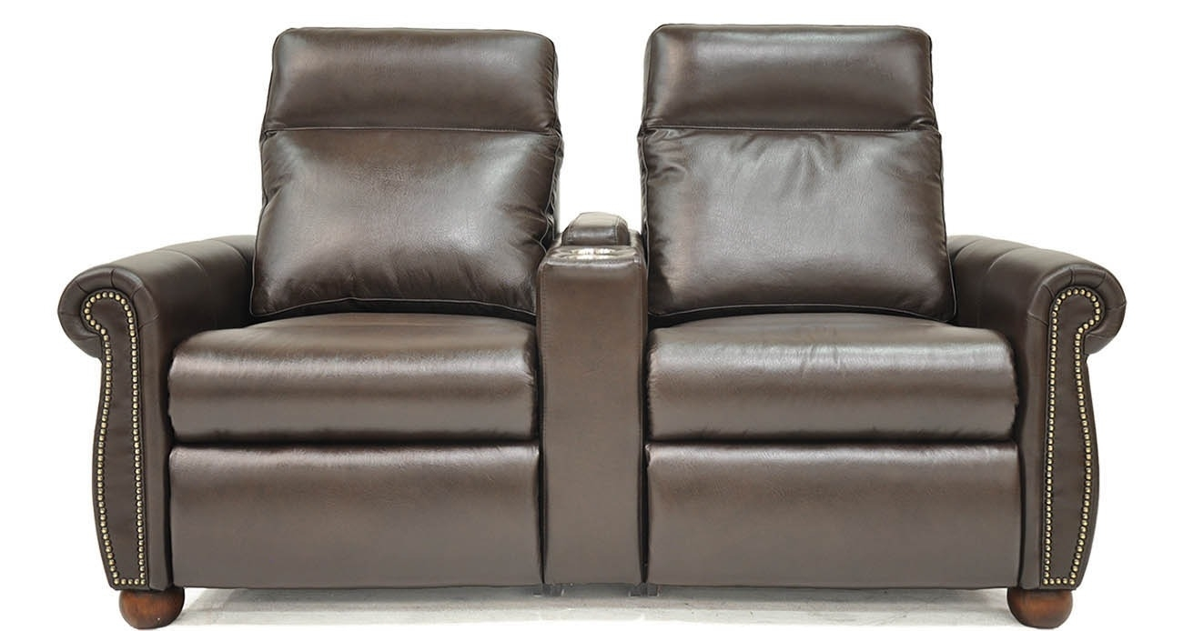 Power Home Theater • Texas Leather Interiors Furniture And Accessories Within Travis Dk Grey Leather 6 Piece Power Reclining Sectionals With Power Headrest & Usb (Photo 6 of 30)