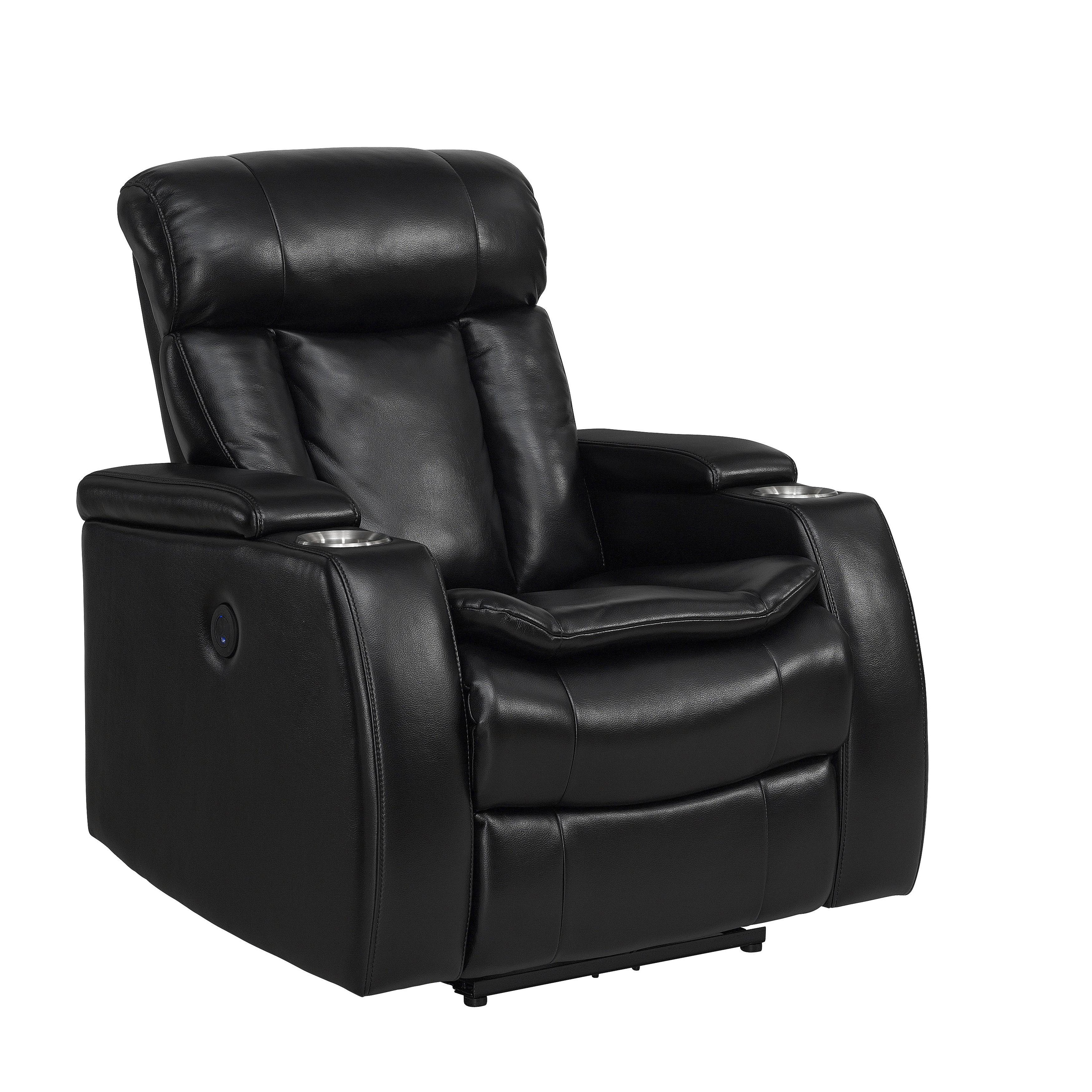 Power Recliner Chairs. Display Product Reviews For Cary Charcoal inside Clyde Grey Leather 3 Piece Power Reclining Sectionals With Pwr Hdrst & Usb (Image 27 of 30)