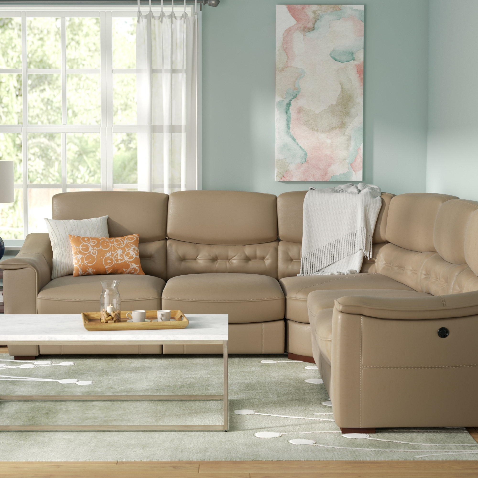 Power Reclining Sectionals You'll Love | Wayfair throughout Waylon 3 Piece Power Reclining Sectionals (Image 16 of 30)
