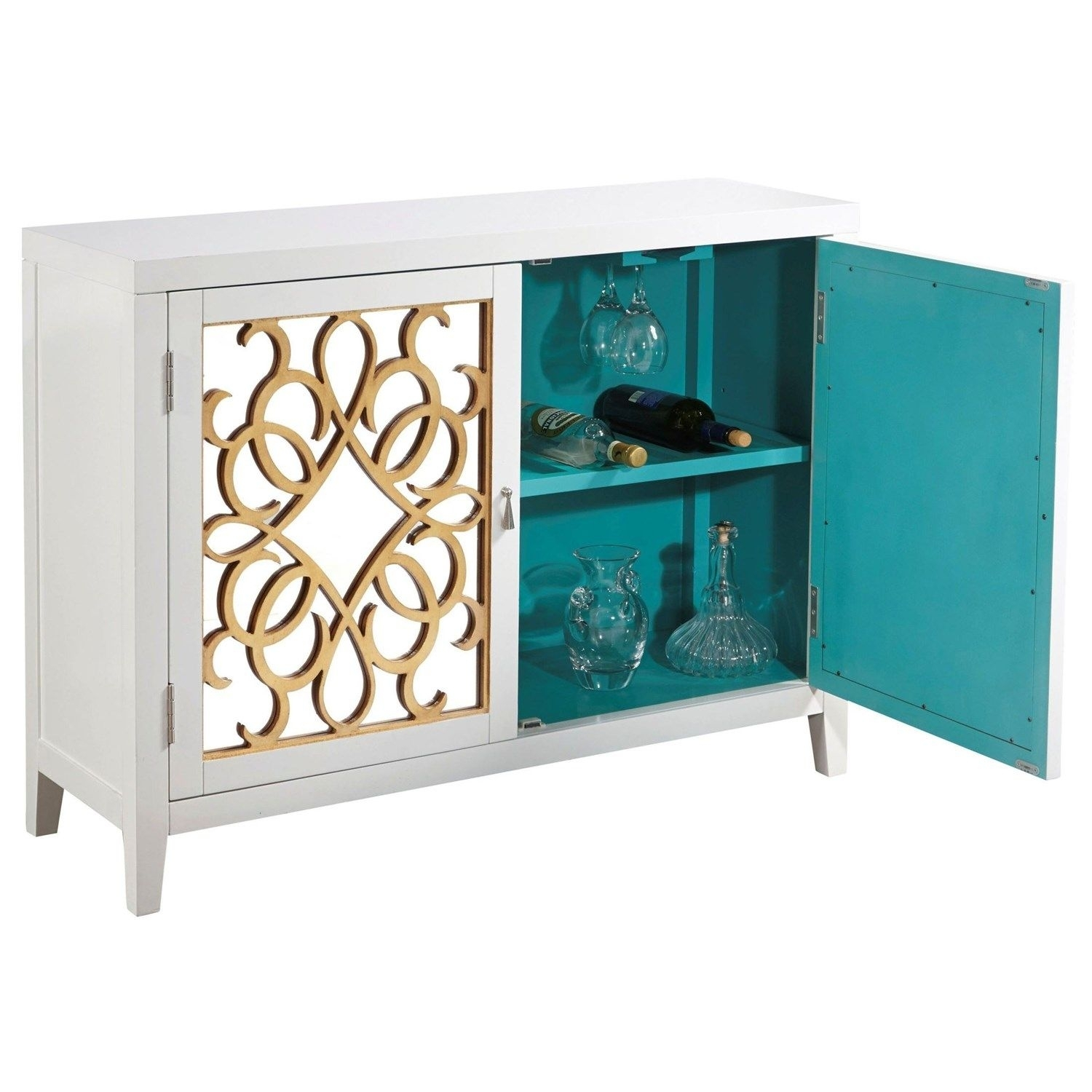 Pulaski 806023 Door Console In Calli | Home Bar | Pinterest within Mandara 3-Drawer 2-Door Sideboards (Image 22 of 30)