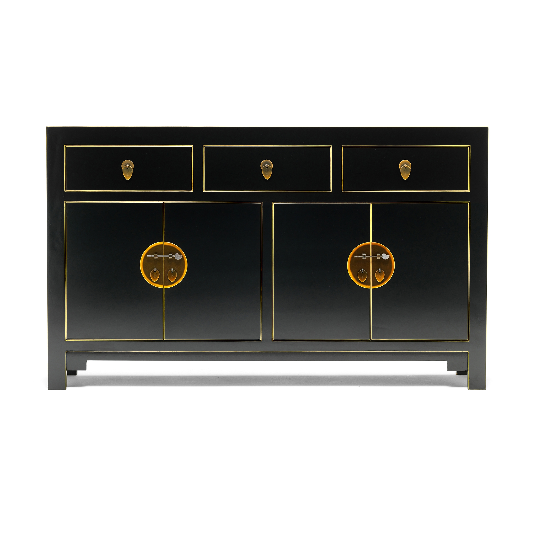 Qing Black And Gilt Sideboard, Large | Chinese Furniture, Oriental intended for Corrugated White Wash Sideboards (Image 20 of 30)