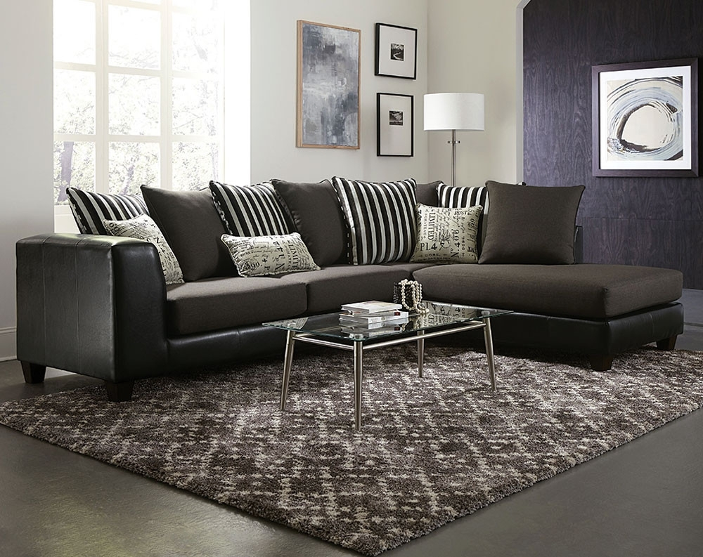 Raconteur Typo 2 Pc. Sectional Sofa | American Freight for Mesa Foam 2 Piece Sectionals (Image 22 of 30)