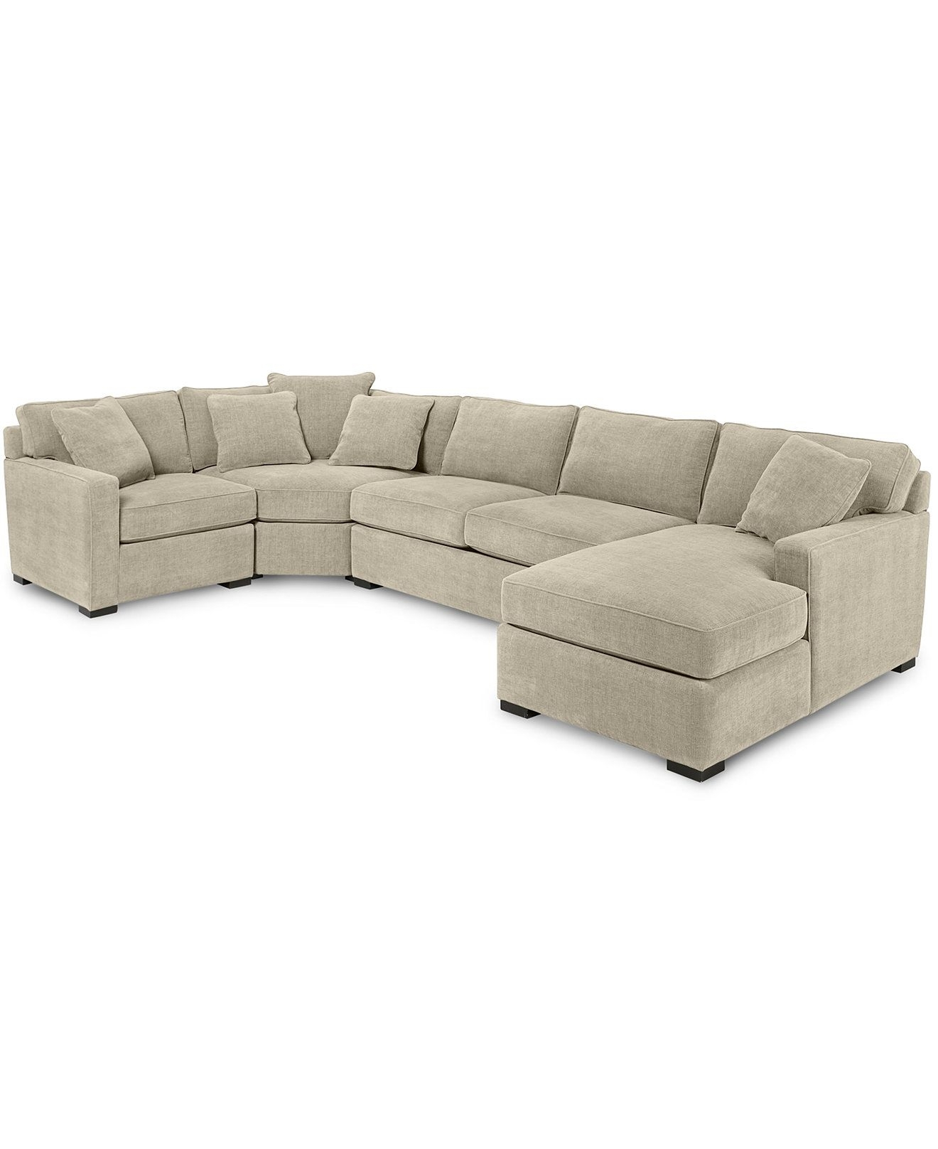 Radley 4-Piece Fabric Chaise Sectional Sofa, Created For Macy's for Norfolk Chocolate 3 Piece Sectionals With Raf Chaise (Image 23 of 30)
