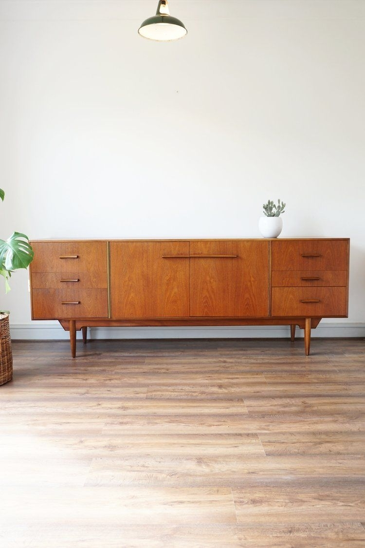 "Rare C1960 Mcintosh ""troon"" Teak Sideboardvalentino Rossi with regard to Rossi Large Sideboards (Image 20 of 30)"