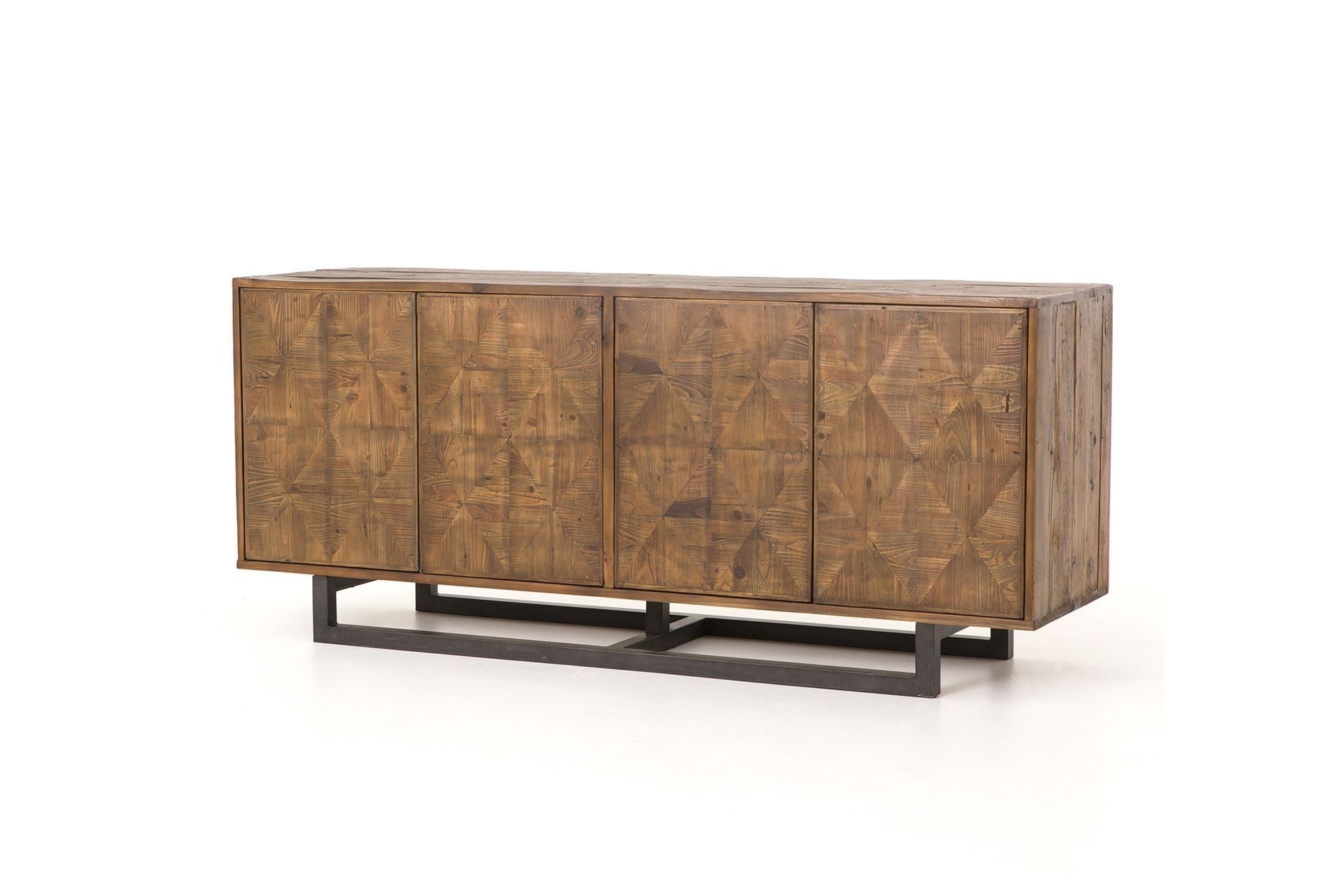 Reclaimed Pine & Iron 72 Inch Sideboard | Pine, Iron And Consoles within Brown Wood 72 Inch Sideboards (Image 21 of 30)