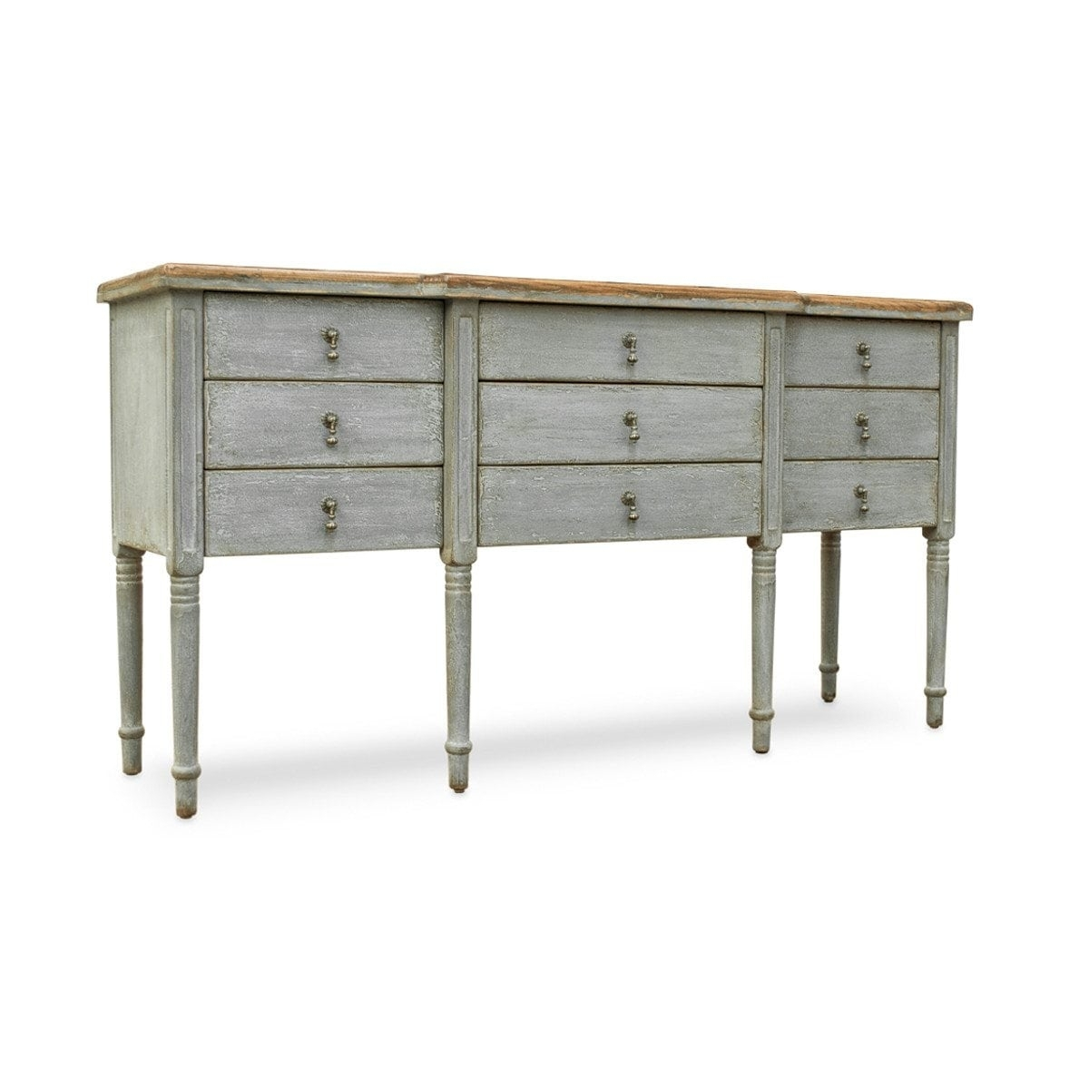 Reclaimed Wood Furniture Sideboard, Upcycled From An Antique Door in Light Brown Reclaimed Elm & Pine 84 Inch Sideboards (Image 21 of 30)