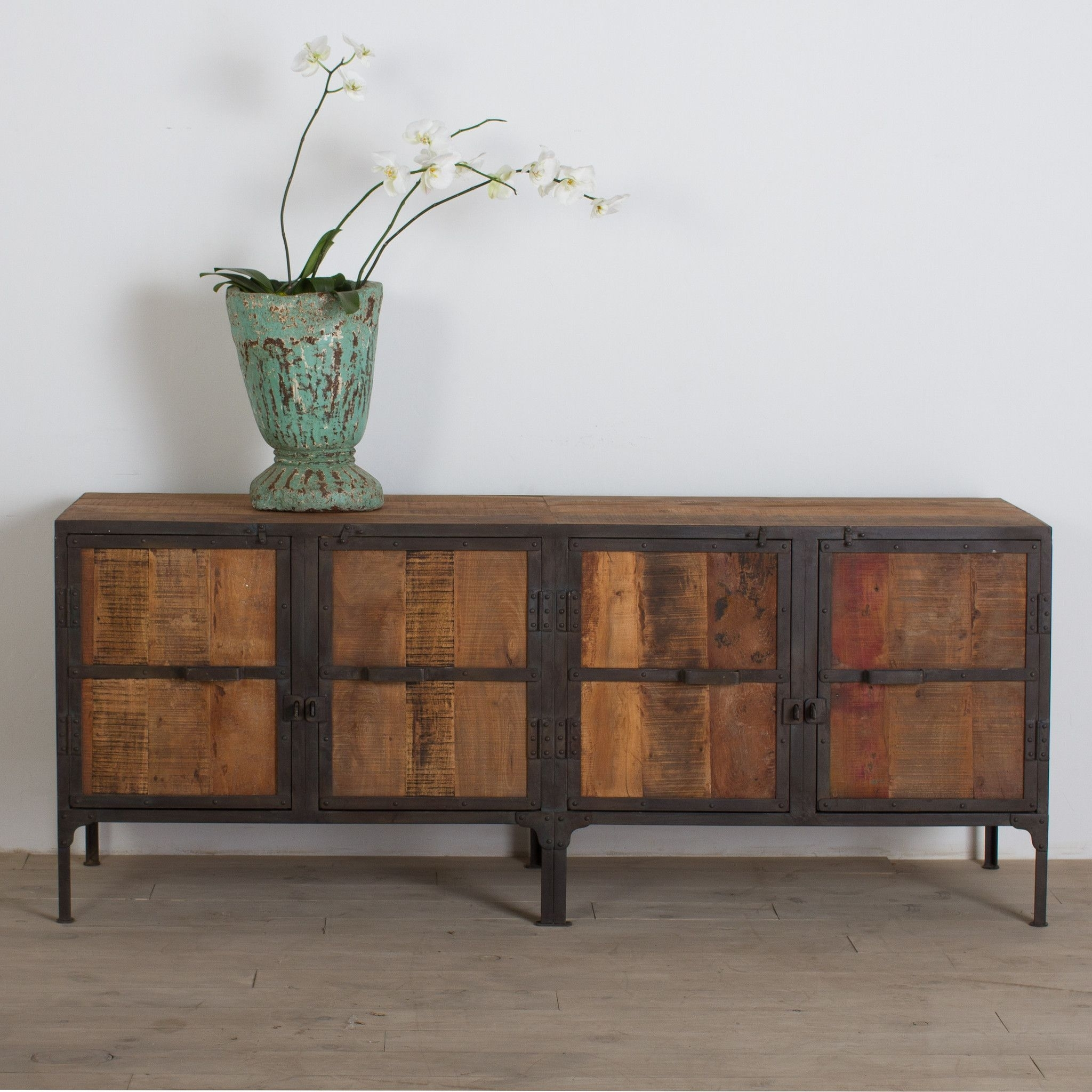 Featured Photo of Metal Framed Reclaimed Wood Sideboards