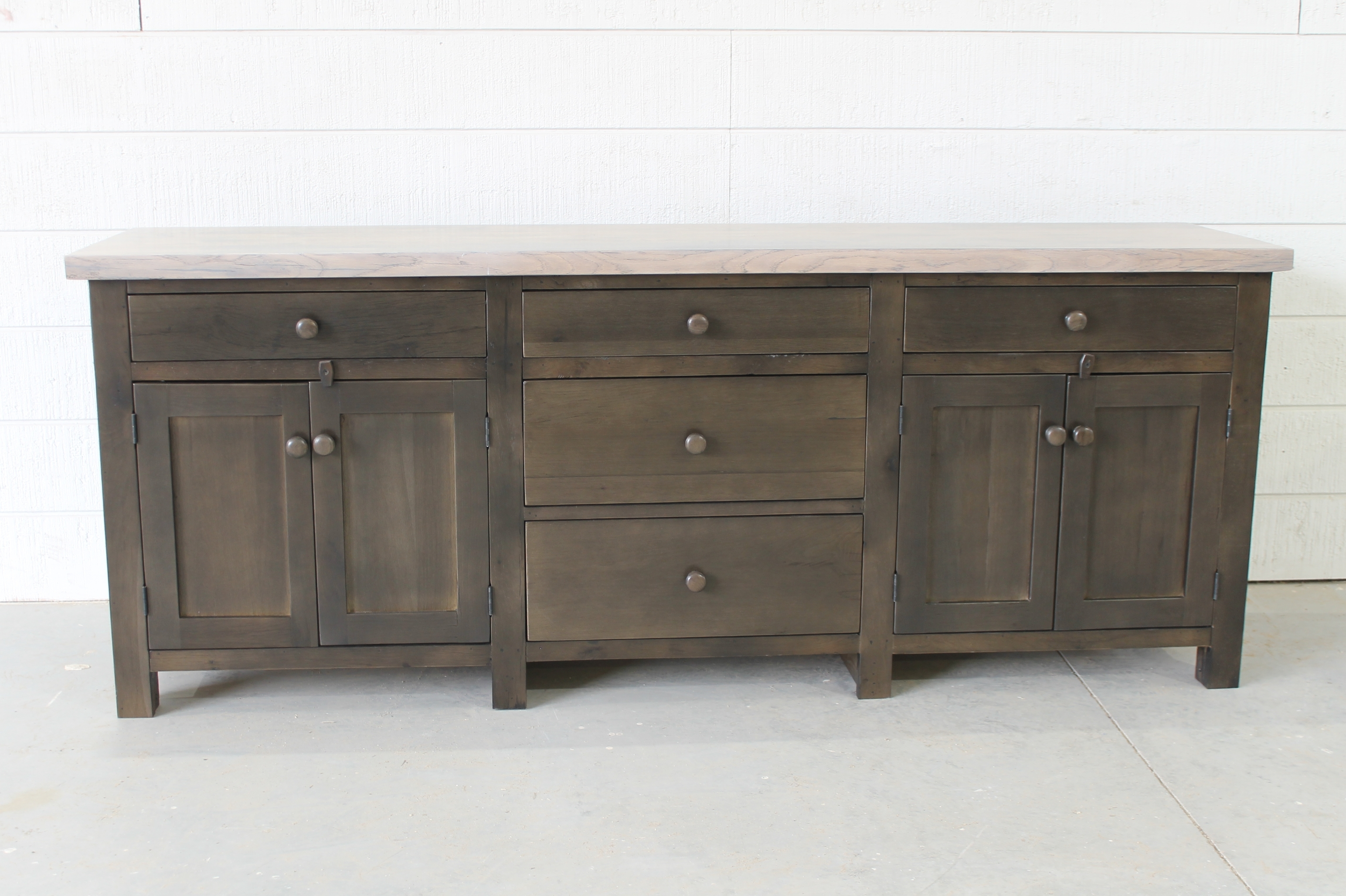 Reclaimed Wood Modern Sideboard. Perfect Marriage Of Old Meets New inside 4 Door Wood Squares Sideboards (Image 26 of 30)