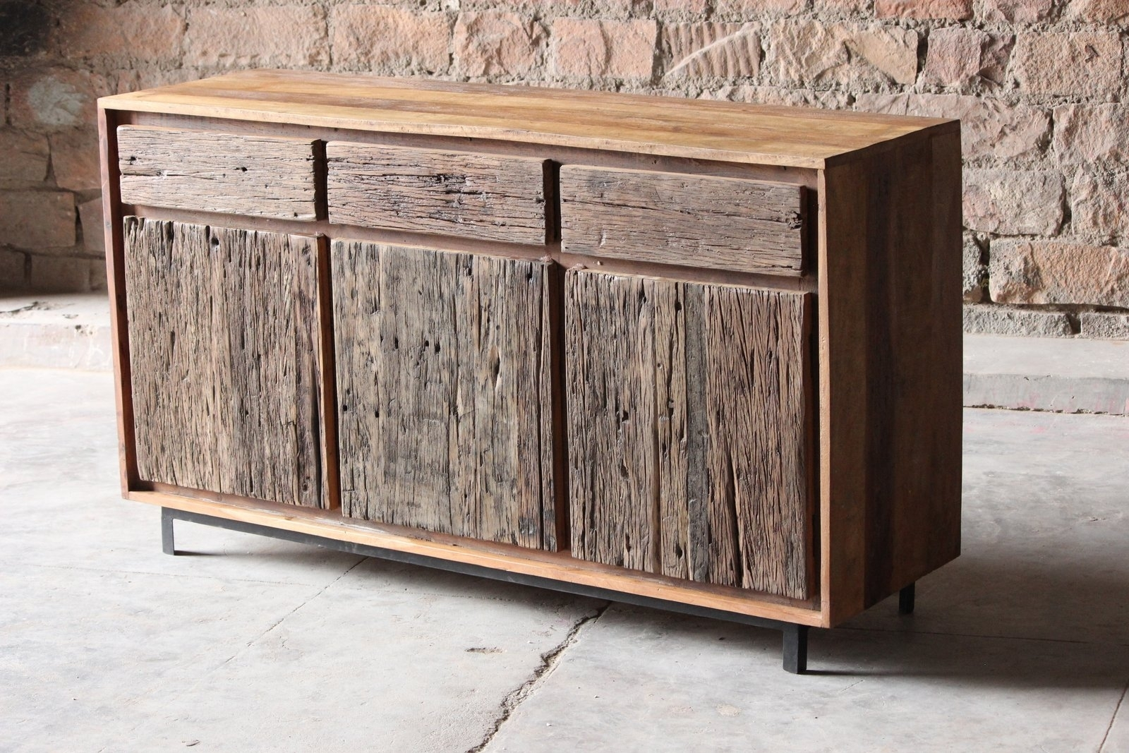 Reclaimed Wood Sideboard From Wine Cabinet — Rocket Uncle Rocket Uncle In Metal Framed Reclaimed Wood Sideboards (View 2 of 30)