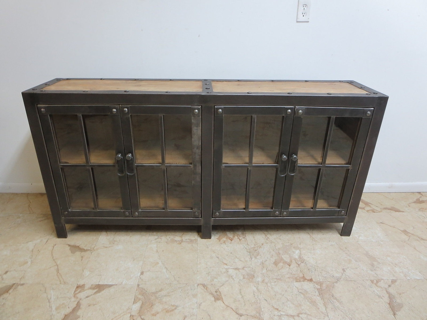 Reclaimed Wood Sideboard From Wine Cabinet — Rocket Uncle Rocket Uncle Throughout Metal Framed Reclaimed Wood Sideboards (View 10 of 30)