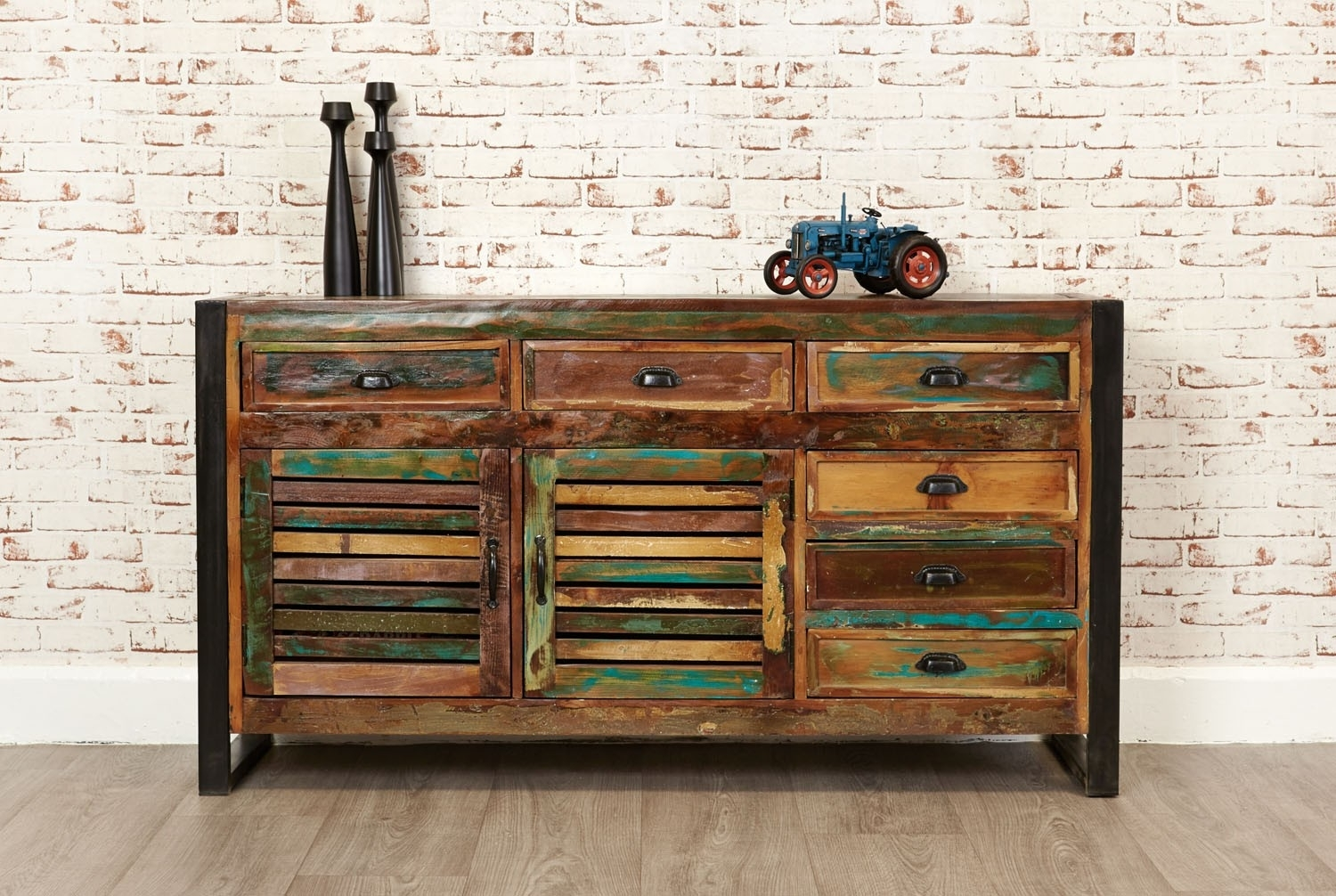 Reclaimed Wood Sideboard From Wine Cabinet — Rocket Uncle Rocket Uncle with Reclaimed 3 Drawer Icebox Sideboards (Image 18 of 30)
