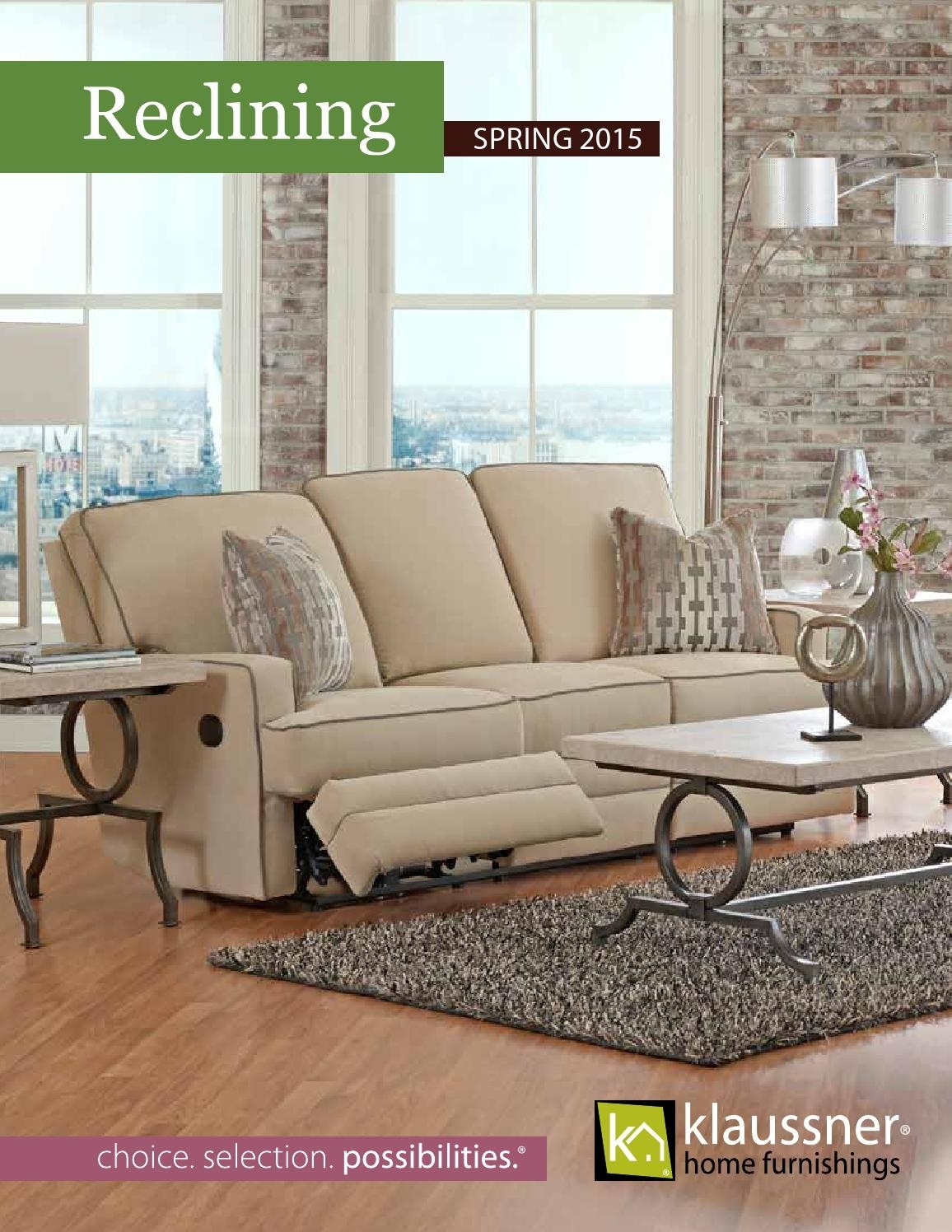 Reclining 2015 Catalogklaussner Home Furnishings - Issuu with Travis Cognac Leather 6 Piece Power Reclining Sectionals With Power Headrest & Usb (Image 19 of 30)