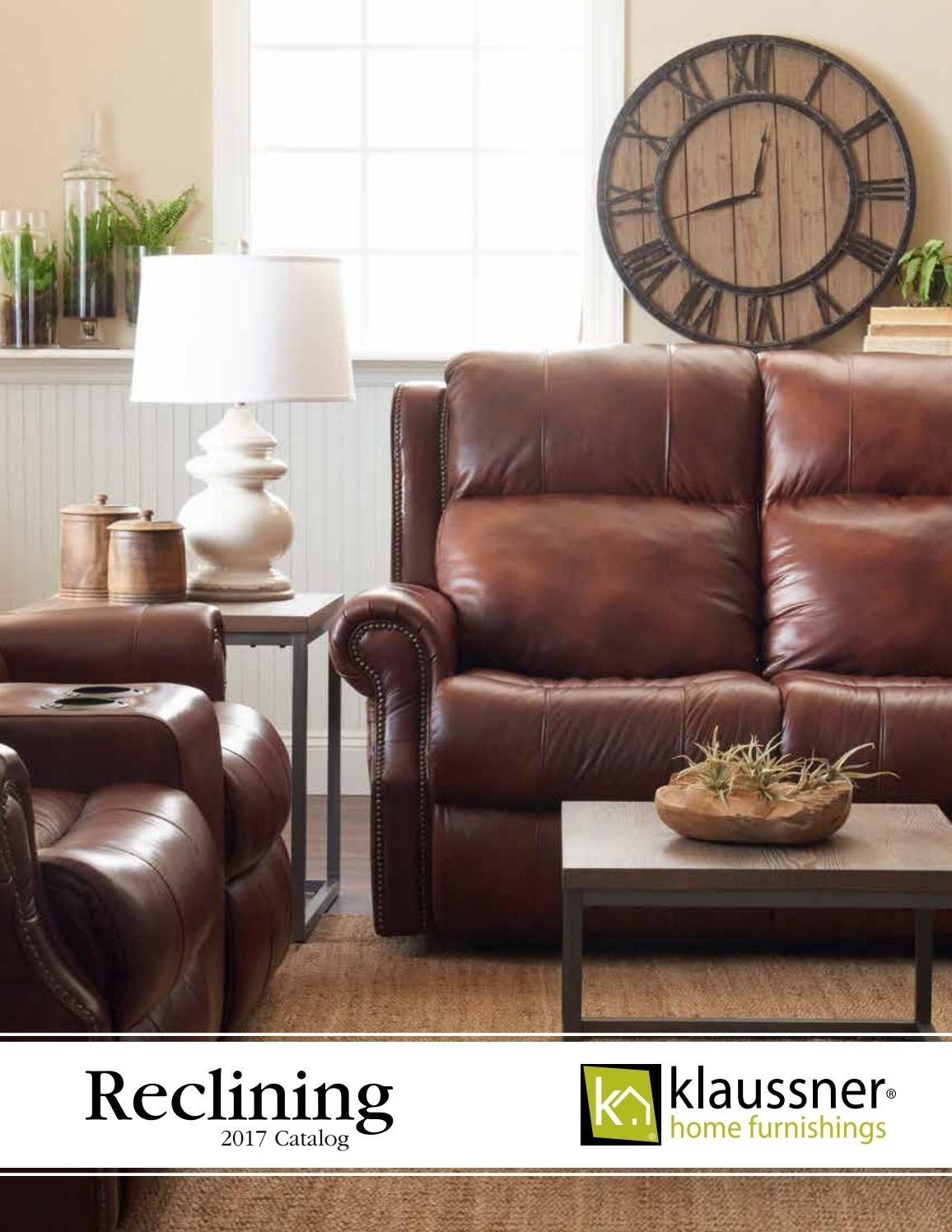 Reclining 2017 Catalog October2017Klaussner Home Furnishings - Issuu for Marcus Chocolate 6 Piece Sectionals With Power Headrest And Usb (Image 17 of 30)