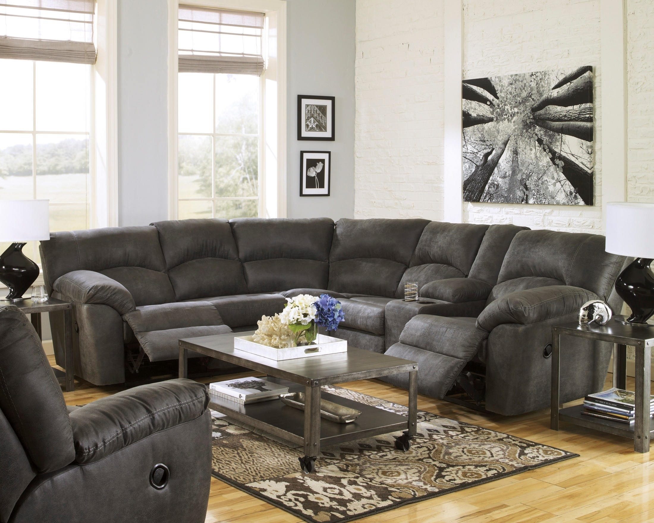 Reclining Sectionals – Coleman Furniture pertaining to Denali Charcoal Grey 6 Piece Reclining Sectionals With 2 Power Headrests (Image 24 of 30)