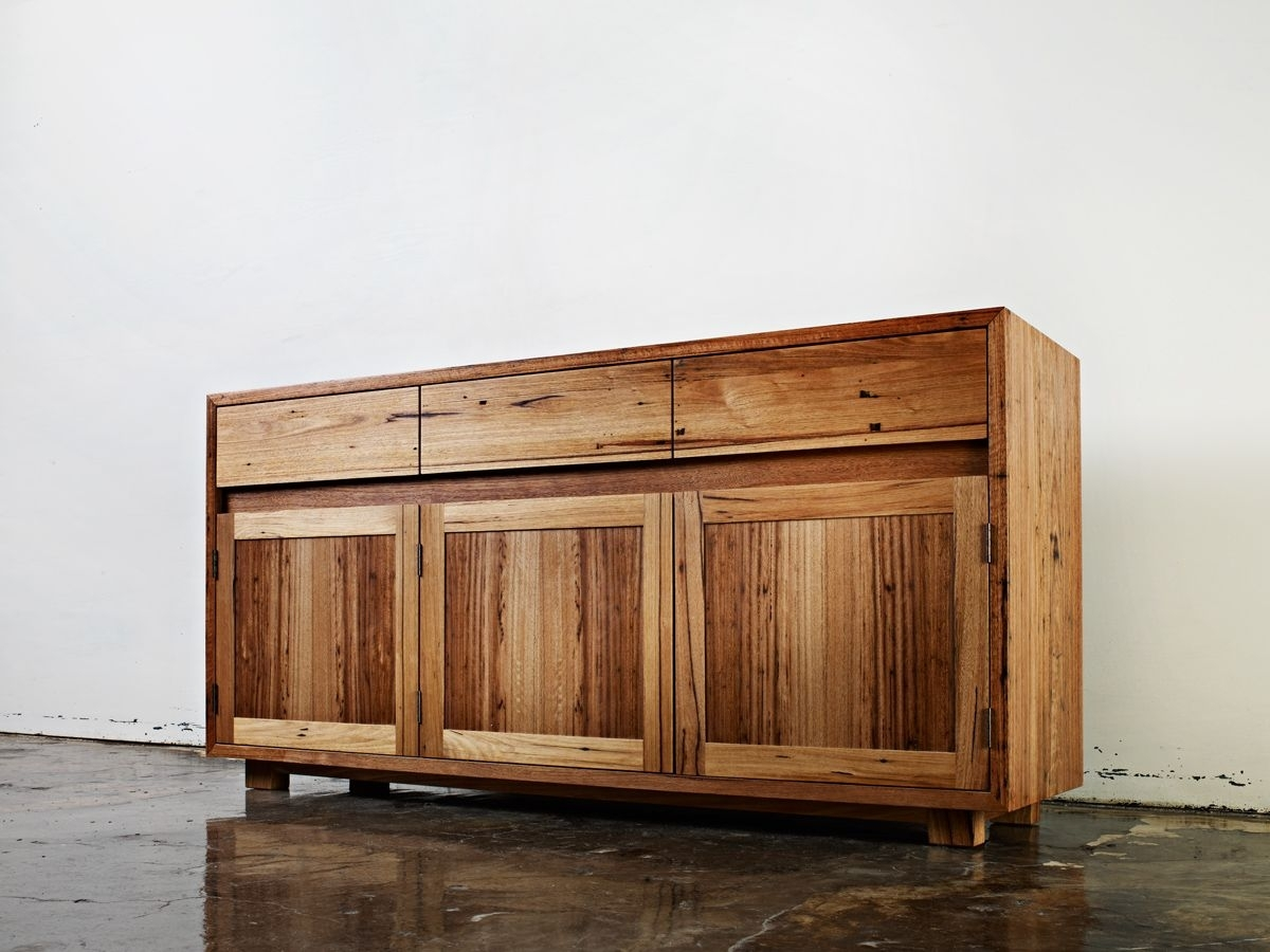Recycled Blackbutt Sideboard Handmadeauld Design - Australian regarding Corrugated White Wash Sideboards (Image 21 of 30)