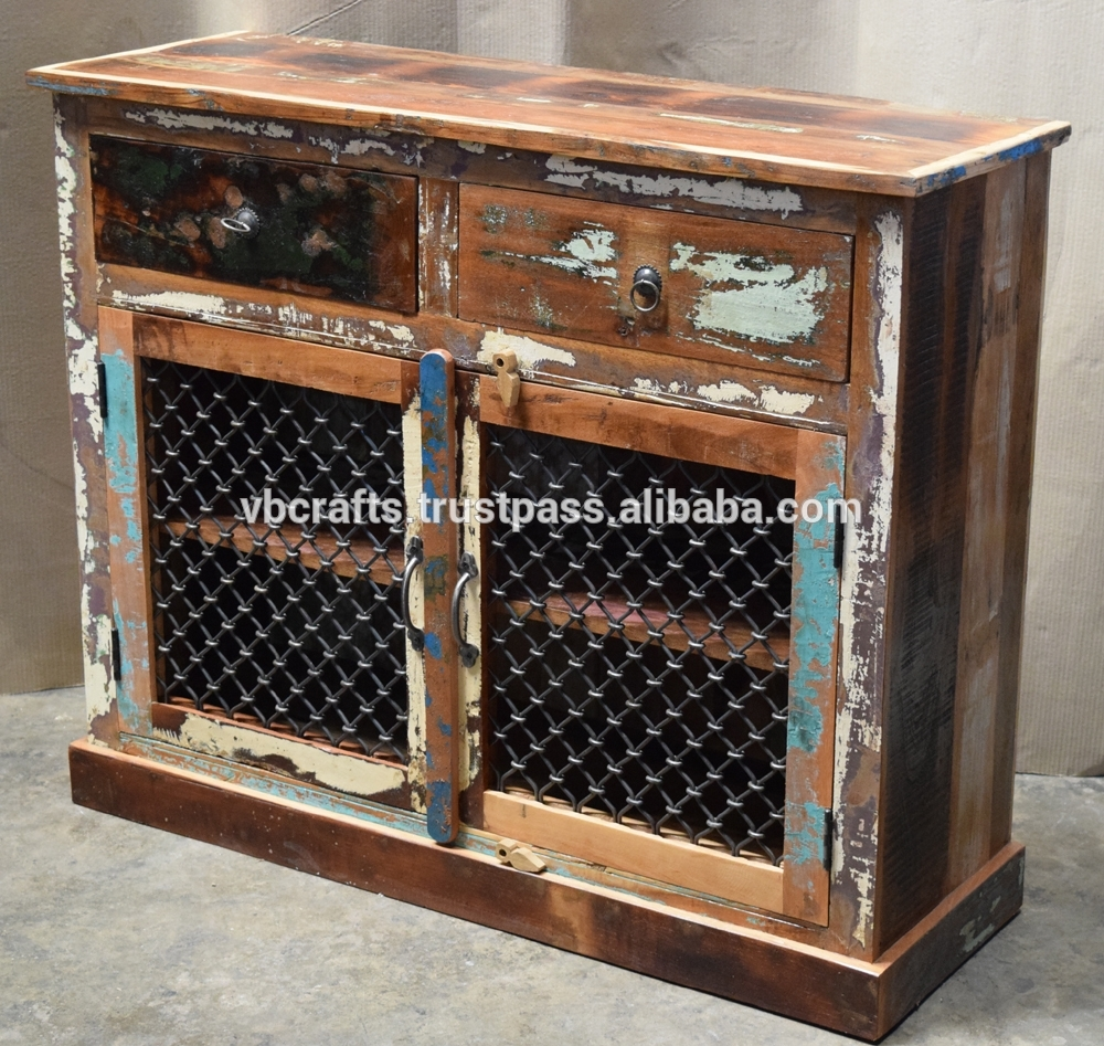 Recycled Wooden Sideboard Iron Jali Panel - Buy Ethnic Indian regarding Corrugated Metal Sideboards (Image 24 of 30)