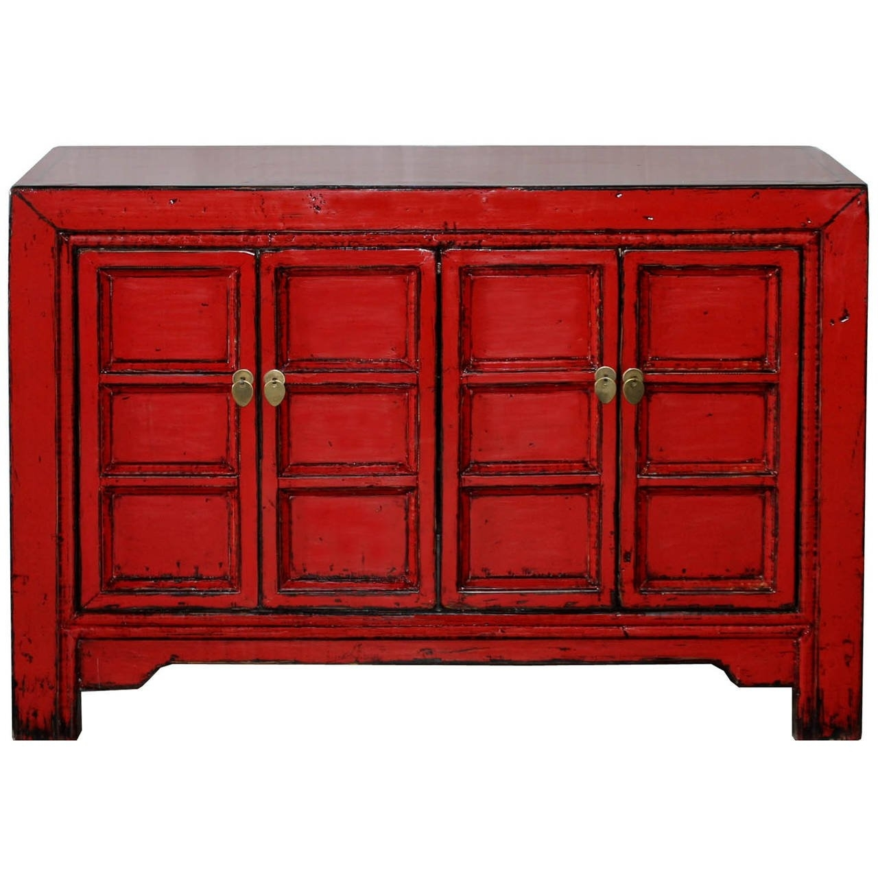 Red Paneled Door Buffet At 1Stdibs in Rani 4 Door Sideboards (Image 22 of 30)