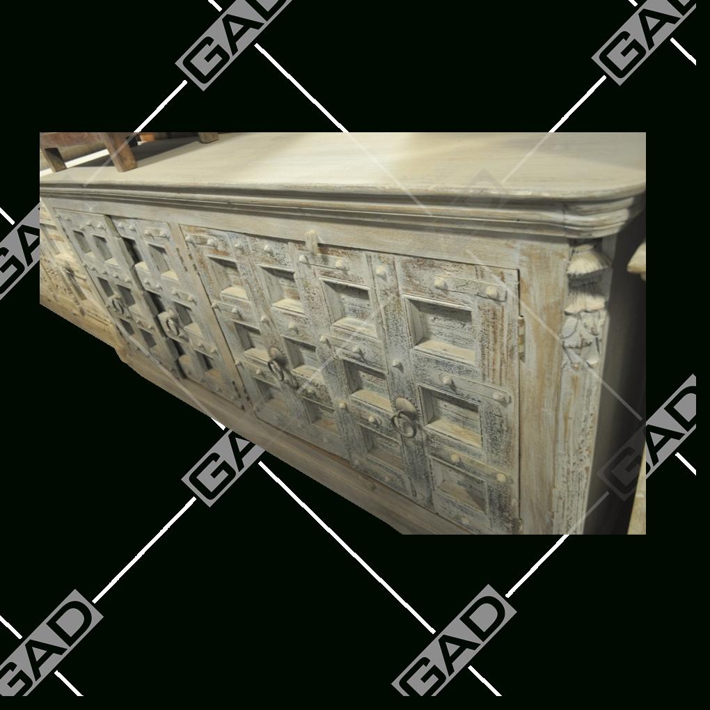 Regal Antique Sideboard - Antique Furniture in Corrugated Natural 6-Door Sideboards (Image 25 of 30)