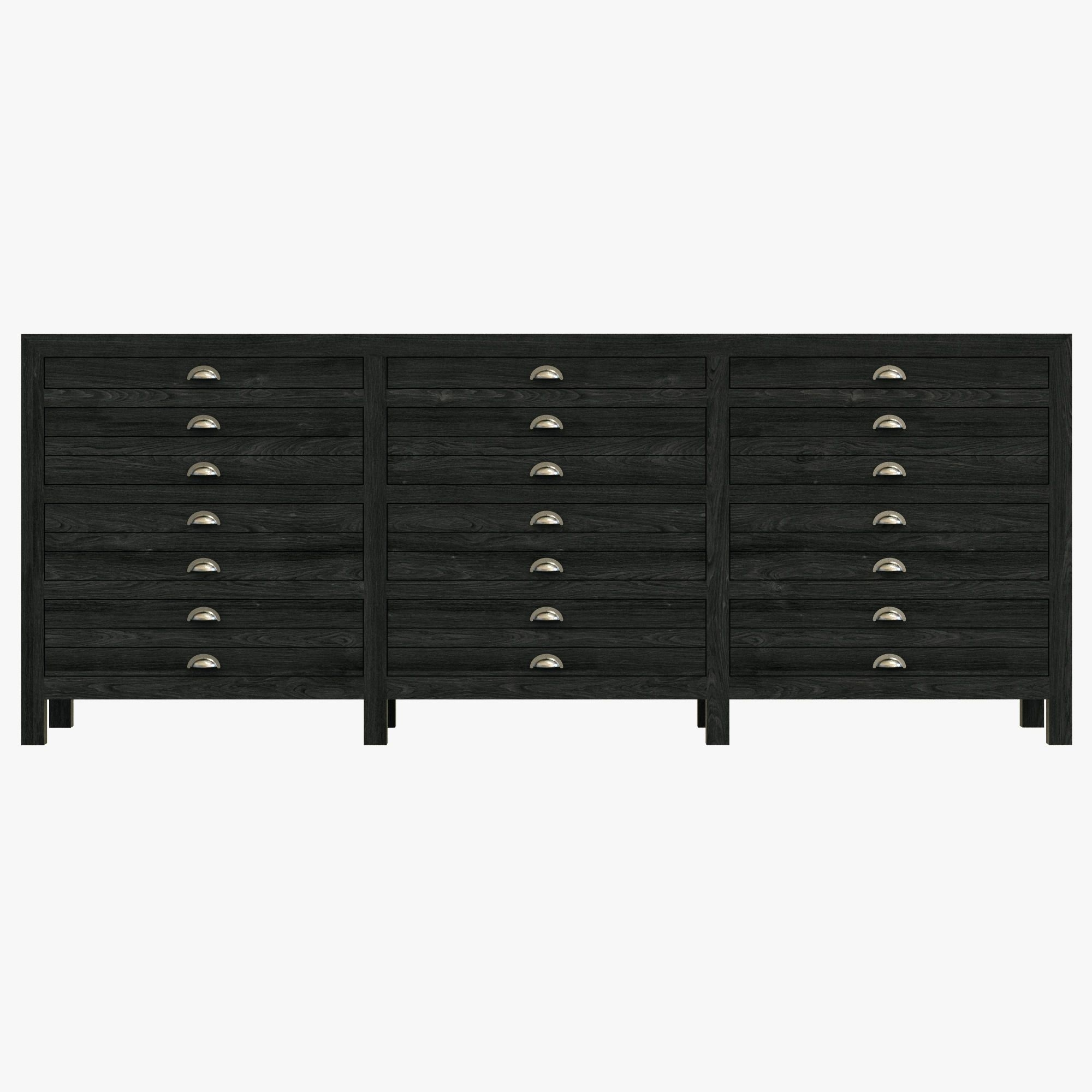 Restoration Hardware: Printmaker Sideboard - Black Pine | Current pertaining to Iron Pine Sideboards (Image 19 of 30)