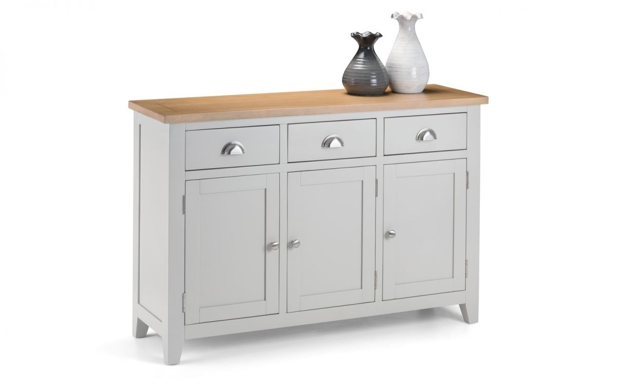 Richmond Sideboard with Oil Pale Finish 3-Door Sideboards (Image 21 of 30)