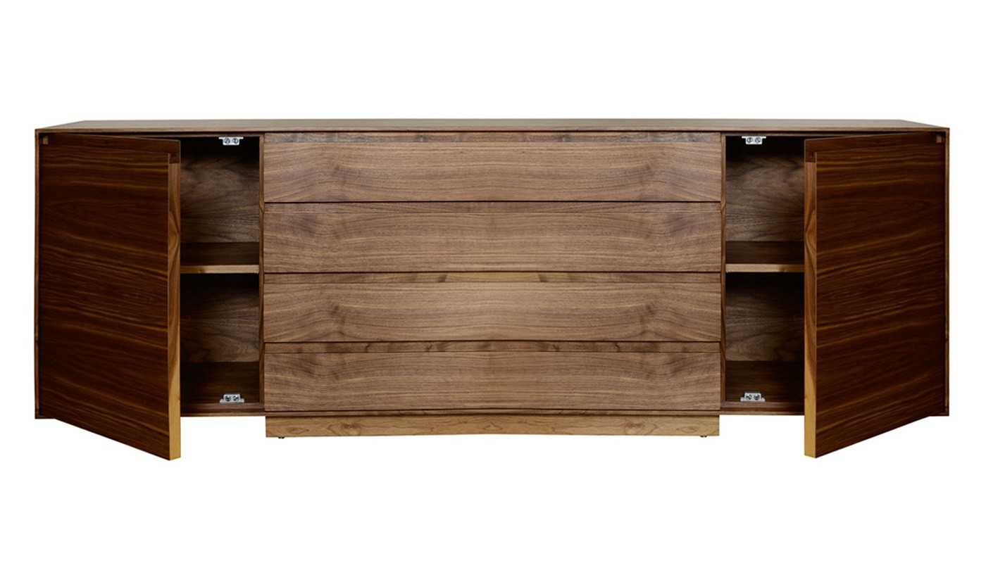 Riva 1920 Kyoto Sideboard Walnut | Heal's with Walnut Small Sideboards (Image 19 of 30)