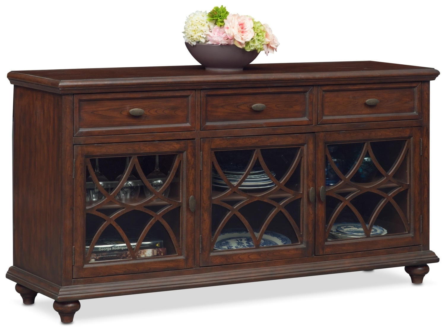 Rivoli Sideboard - Brown | Value City Furniture And Mattresses intended for Diamond Circle Sideboards (Image 20 of 30)