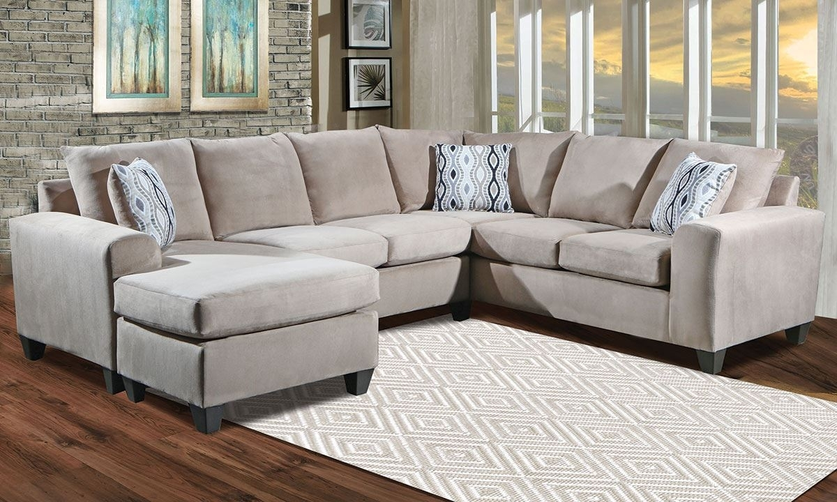 Room-Size Sectional With Reversible Chaise | The Dump Luxe Furniture with Norfolk Grey 3 Piece Sectionals With Laf Chaise (Image 25 of 30)