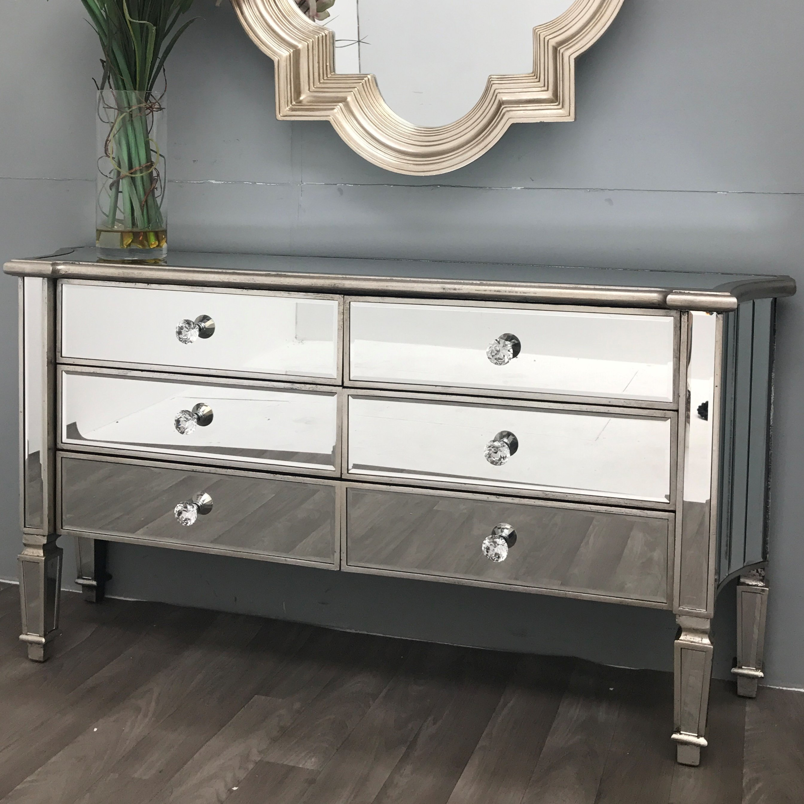 Rosdorf Park Vintage Mirrored Sideboard & Reviews | Wayfair.co.uk pertaining to Vintage 8 Glass Sideboards (Image 18 of 30)