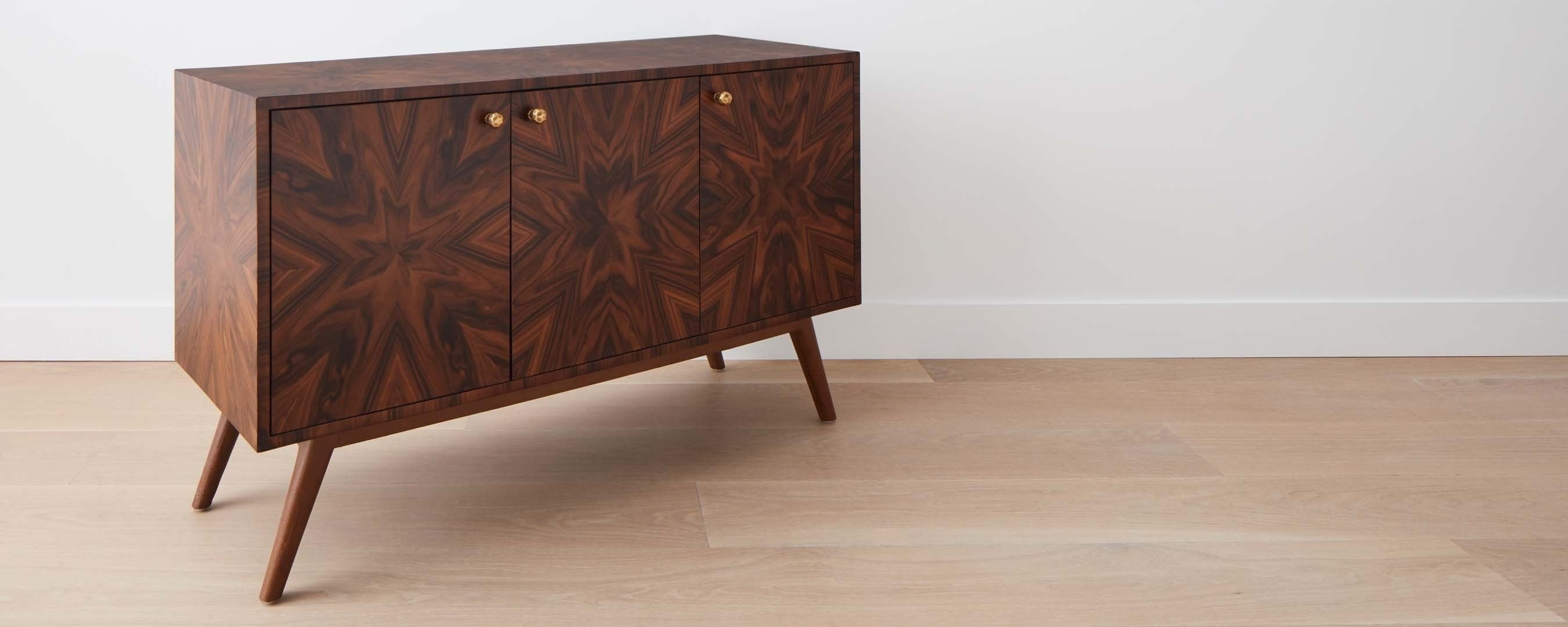 Rosewood 3-Drawer Buffet | Ffe | Cabinets, Sideboards And Wardrobes inside Starburst 3 Door Sideboards (Image 21 of 30)