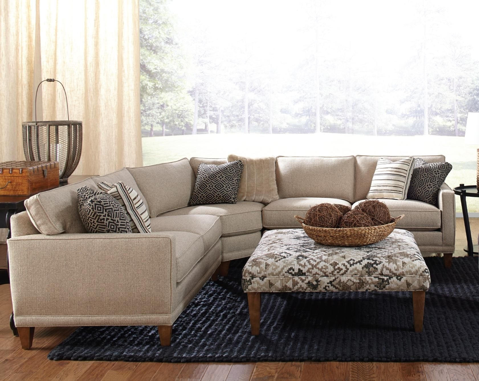 Rowe Townsend Contemporary 3 Piece Sectional Sofa - Sprintz for Blaine 4 Piece Sectionals (Image 21 of 30)