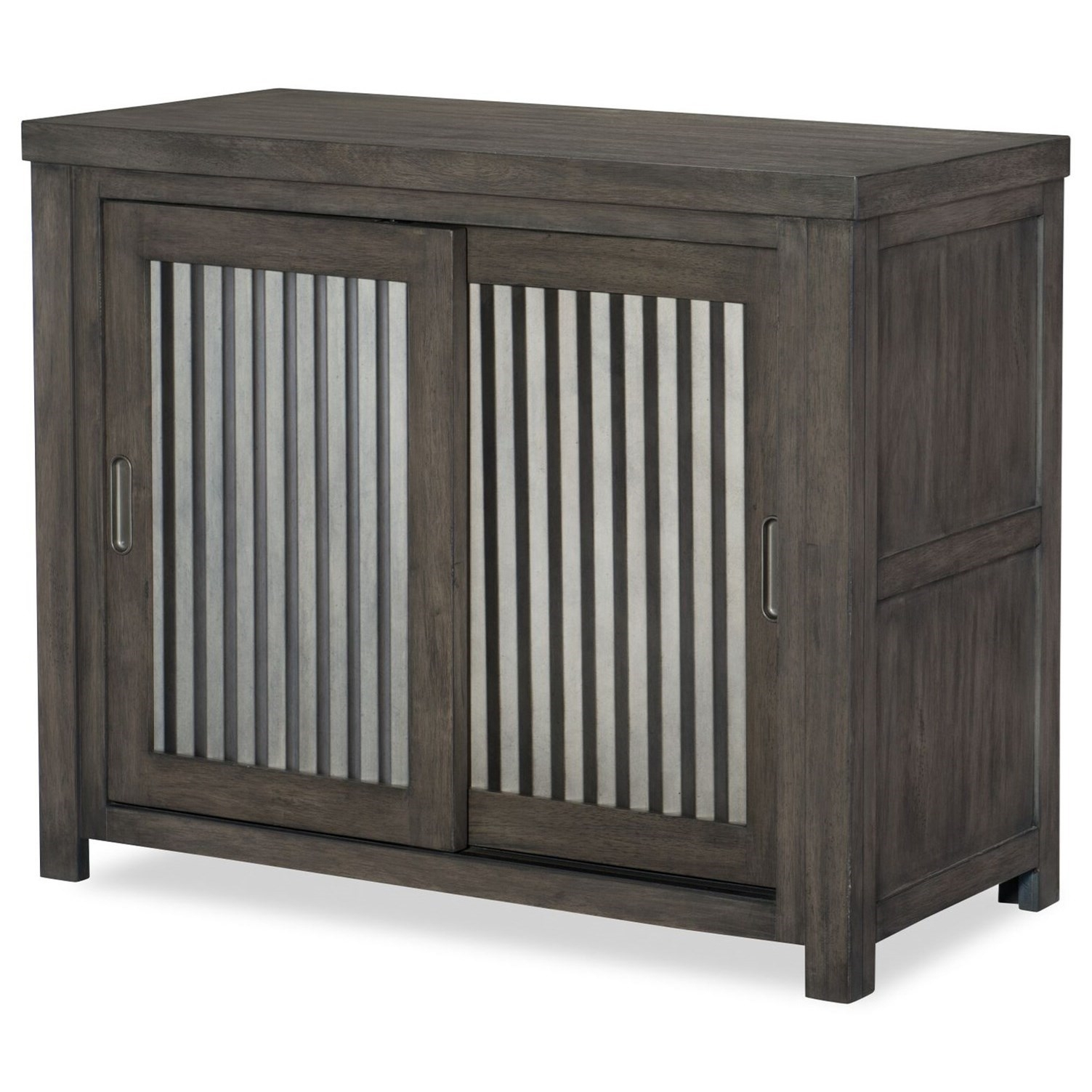 Rustic Casual Sliding Door Chest With Corrugated Metal Doors with Corrugated Metal Sideboards (Image 27 of 30)