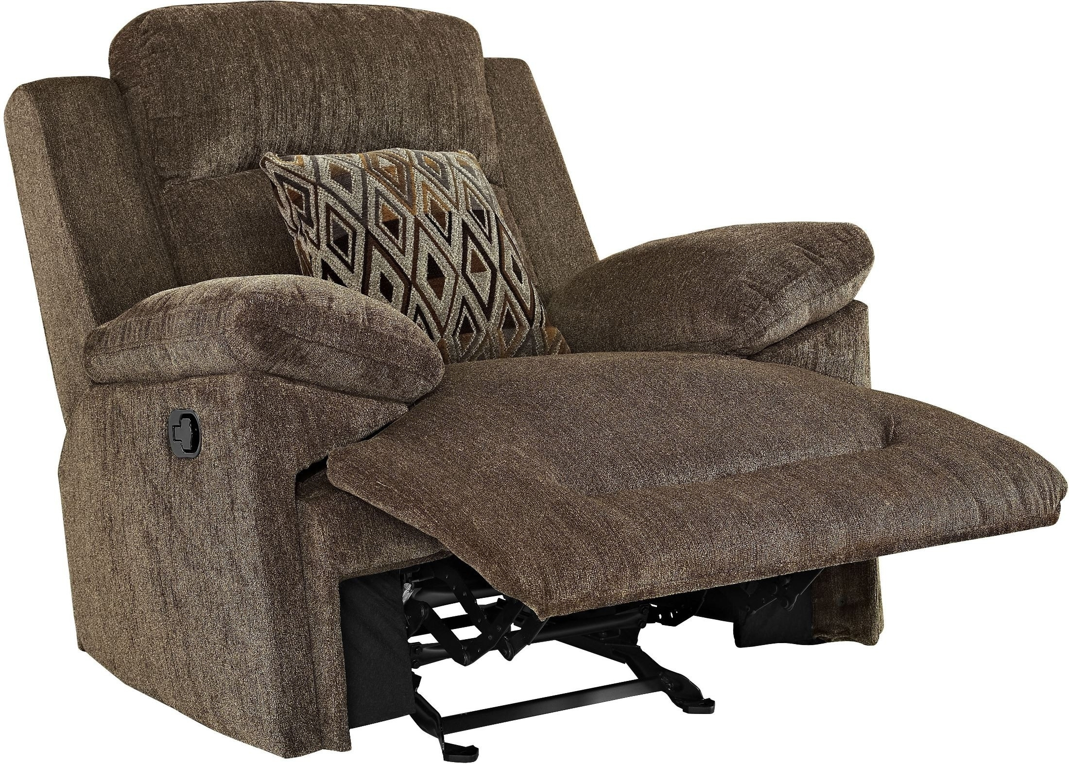 Ryder King Kong Cocoa Glider Recliner From New Classic | Coleman inside Burton Leather 3 Piece Sectionals With Ottoman (Image 18 of 30)