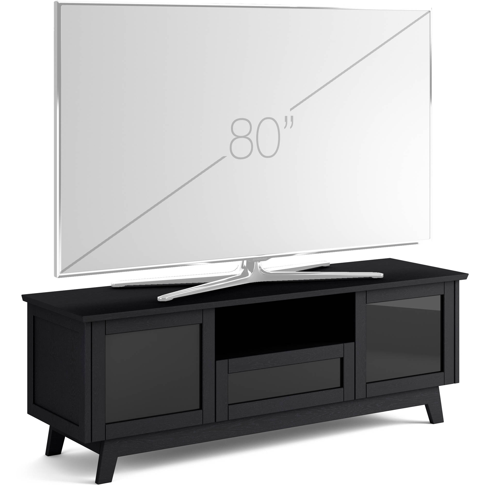 Salamander Designs Audio/video Cabinet In Black Sdav5/7225/bo within Solar Refinement Sideboards (Image 19 of 30)