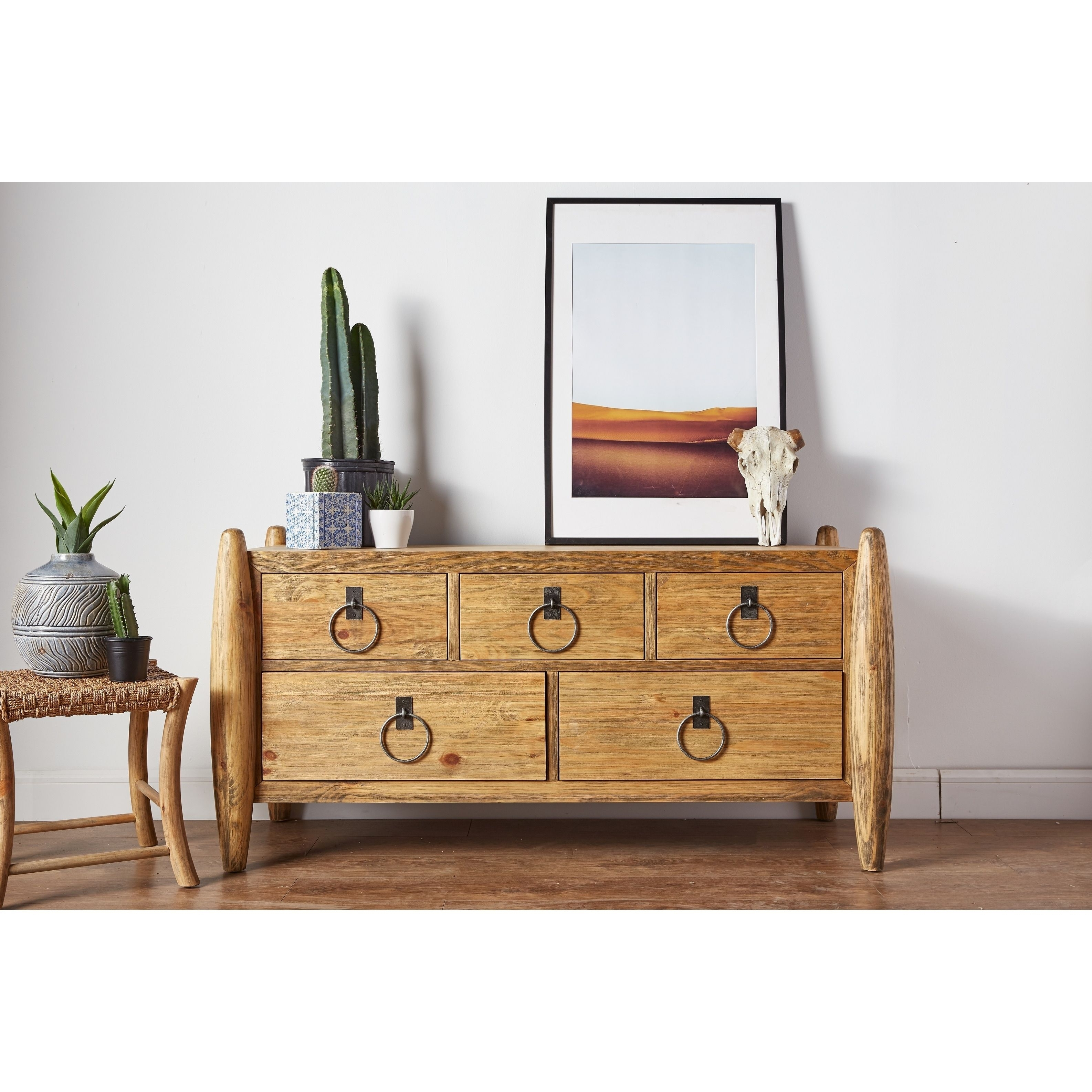 Sand Rustic Light Brown Wood Buffet | Products within Reclaimed 3 Drawer Icebox Sideboards (Image 23 of 30)