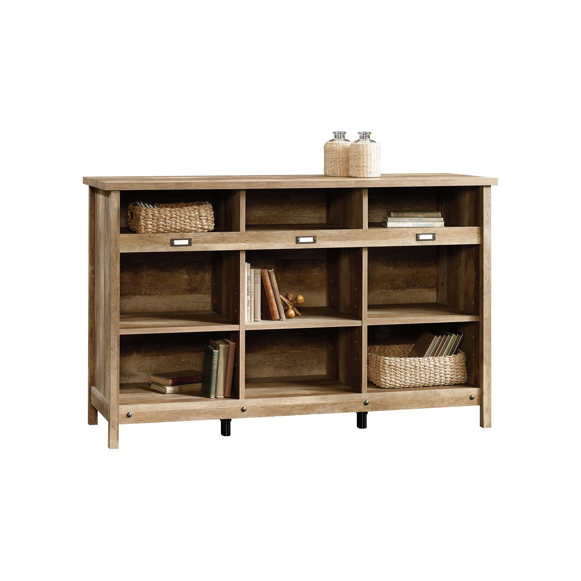 Sauder Adept Storage Credenza - Craftsman Oak | Products inside Craftsman Sideboards (Image 22 of 30)