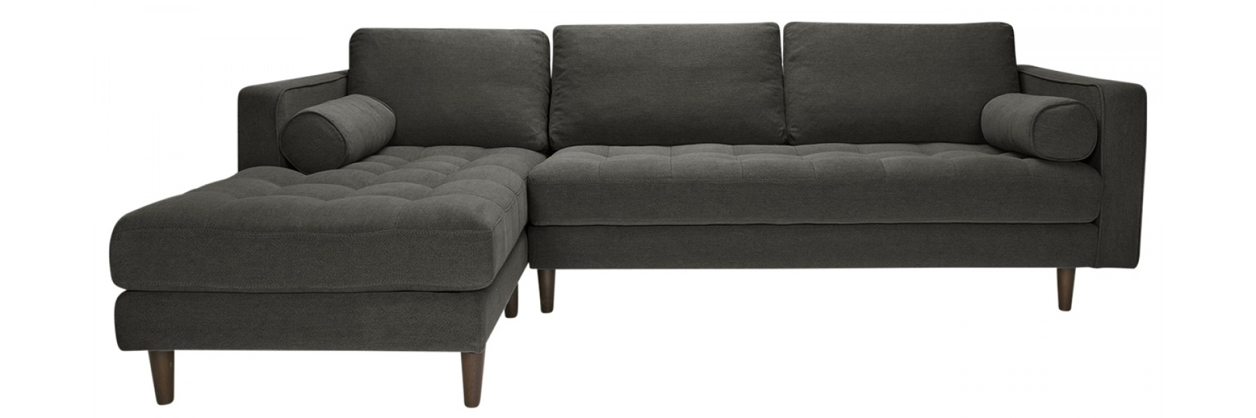 Sawyer Laf Sectional Stoned Slate with Nico Grey Sectionals With Left Facing Storage Chaise (Image 25 of 30)