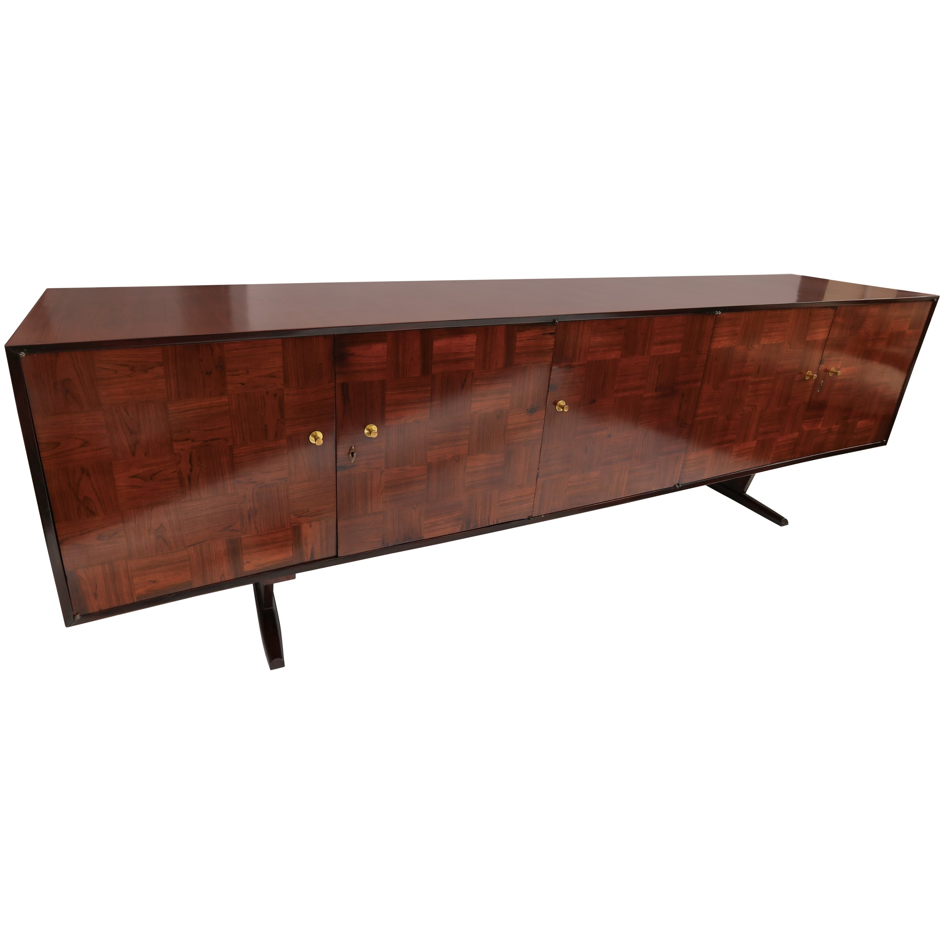 Scapinelli 1960S Brazilian Jacaranda Parquet Sideboard For Sale At with regard to Parquet Sideboards (Image 22 of 30)