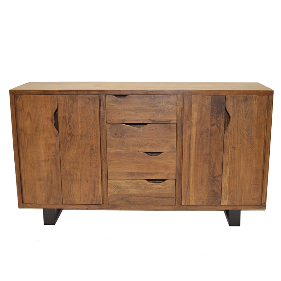 Scott Sideboard | Sideboards, Acacia Wood, Indian | Home Design Store pertaining to Acacia Wood 4-Door Sideboards (Image 19 of 30)