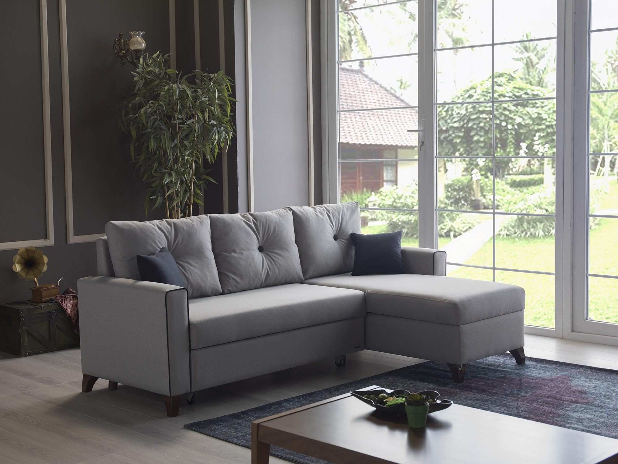 Sealy Sectional Sofa Bed | Baci Living Room intended for Lucy Dark Grey 2 Piece Sleeper Sectionals With Laf Chaise (Image 23 of 30)